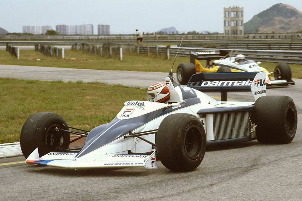 Nelson Piquet in his Brabham BT52 BMW