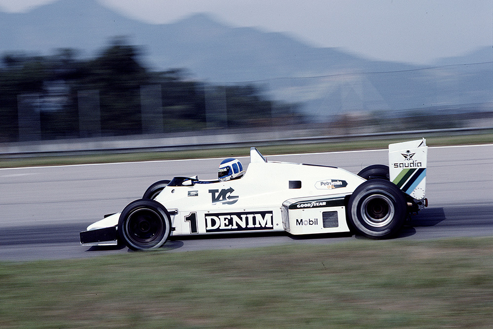 Keke Rosberg in a Williams FW08C Ford