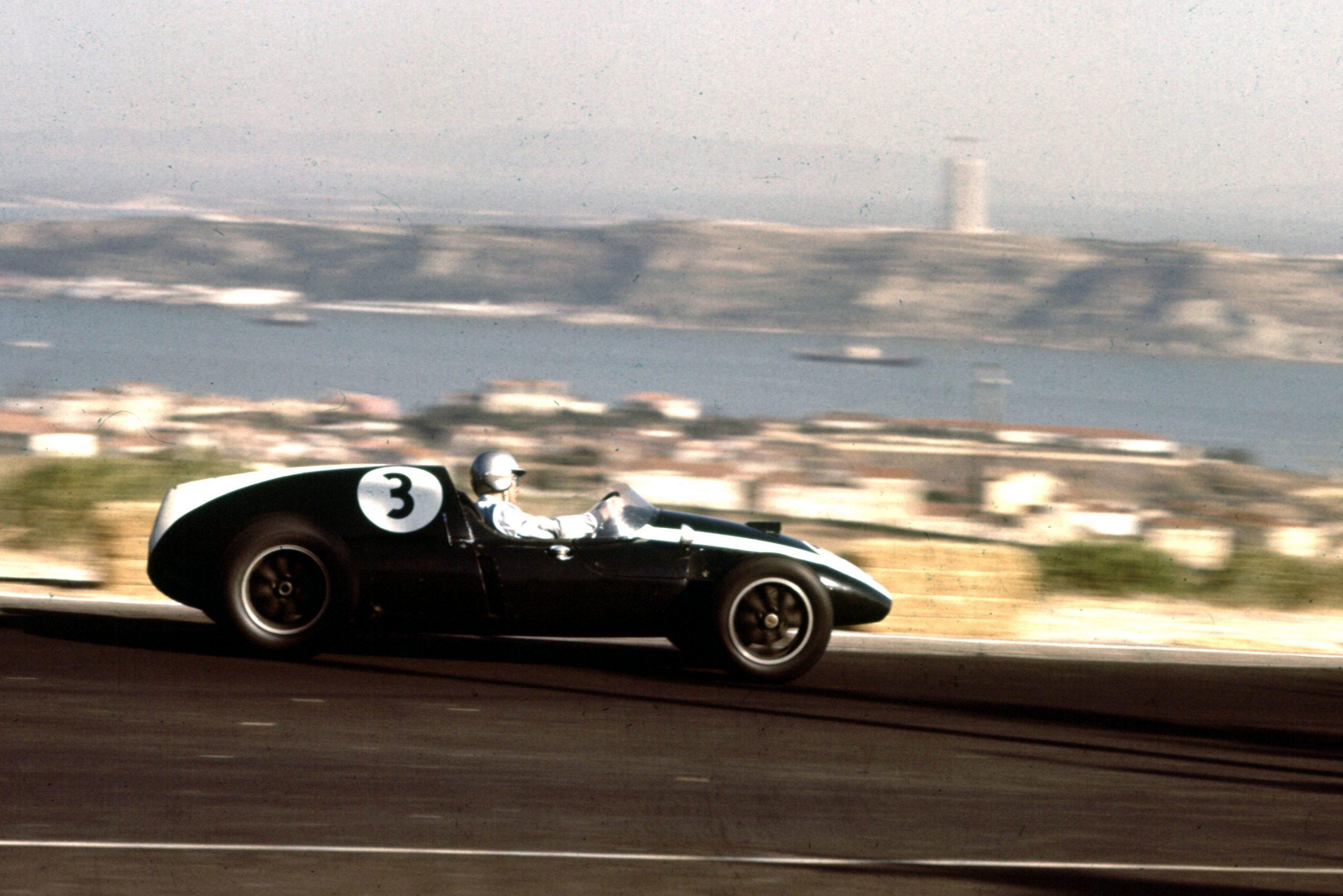 Bruce McLaren driving his Cooper T51 Climax.