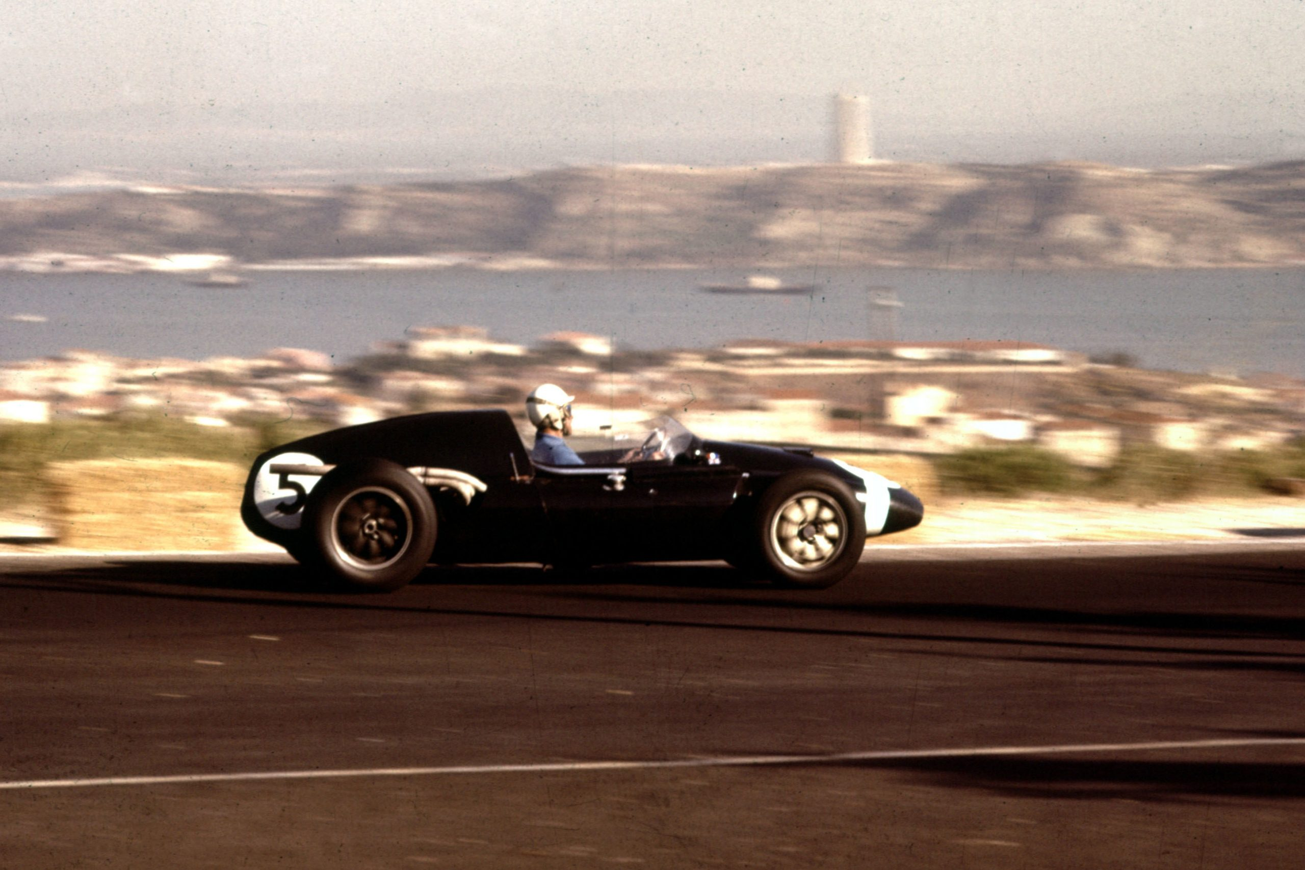 Maurice Trintignant at the wheel of his Cooper T51 Climax.