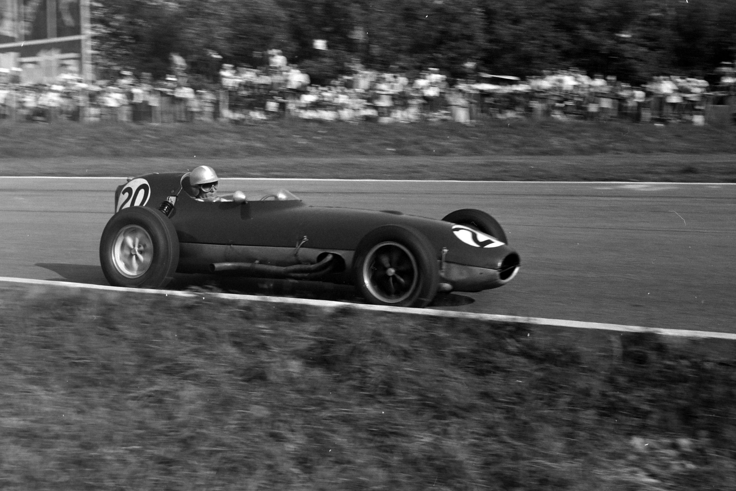 Innes Ireland in his Lotus 16 Climax