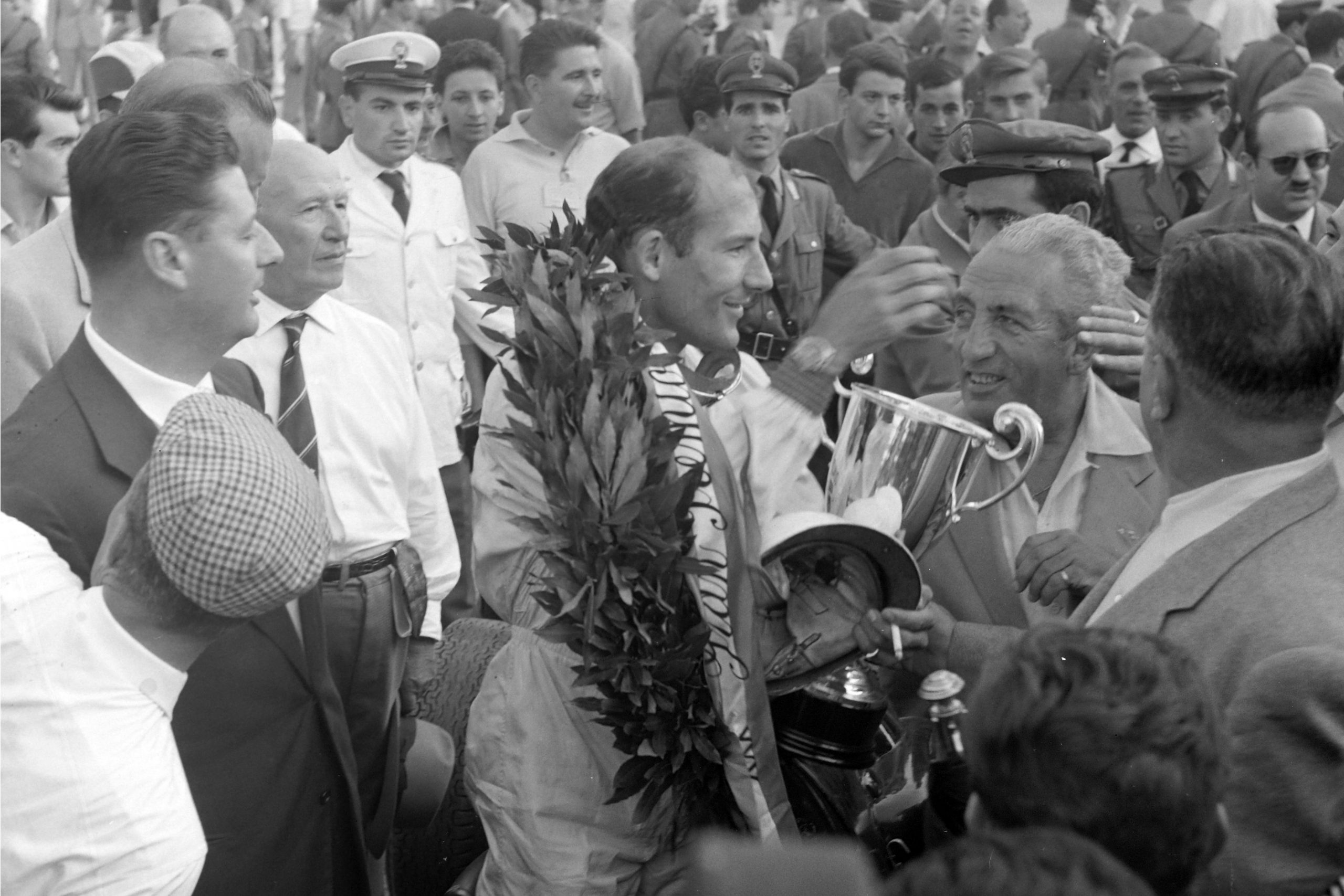 Stirling Moss after the race