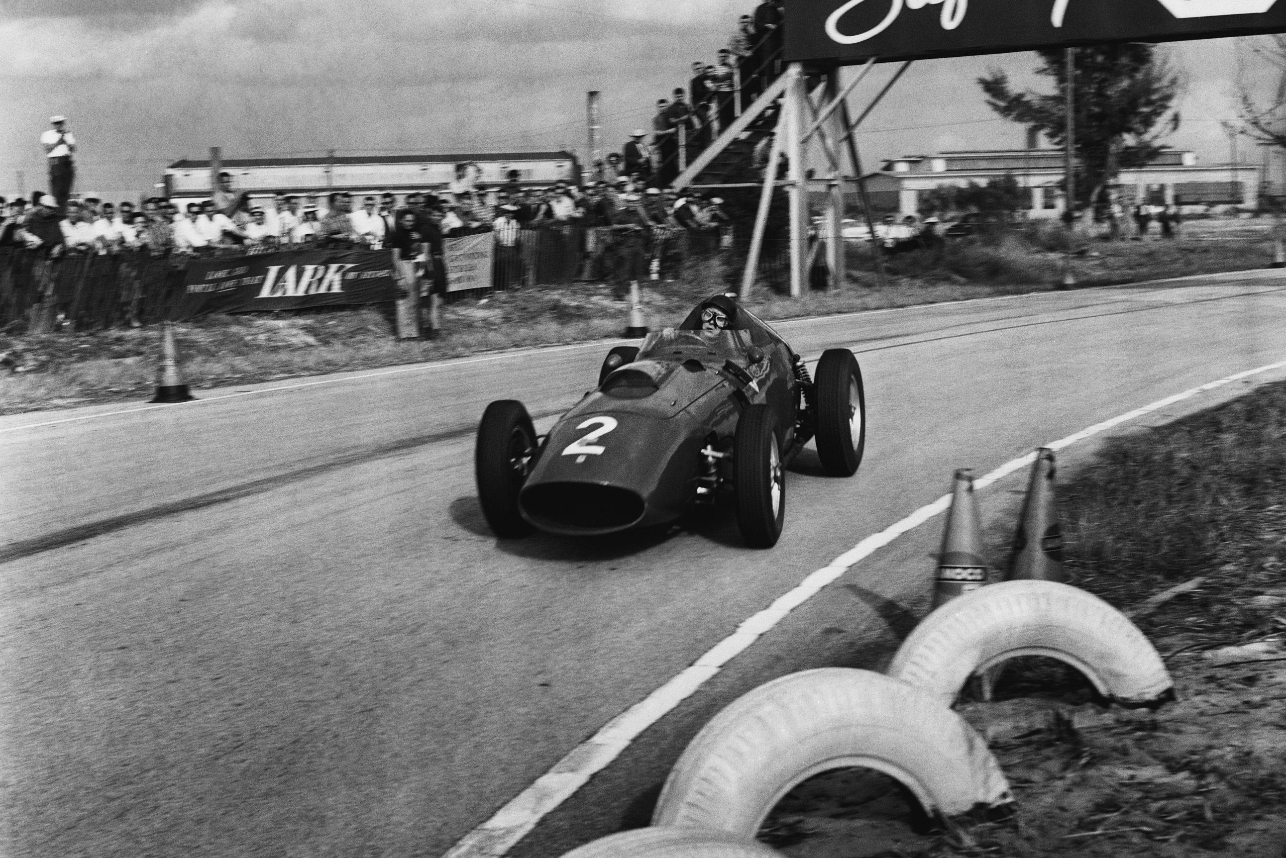 Tony Brooks in a Ferrari Dino 246.