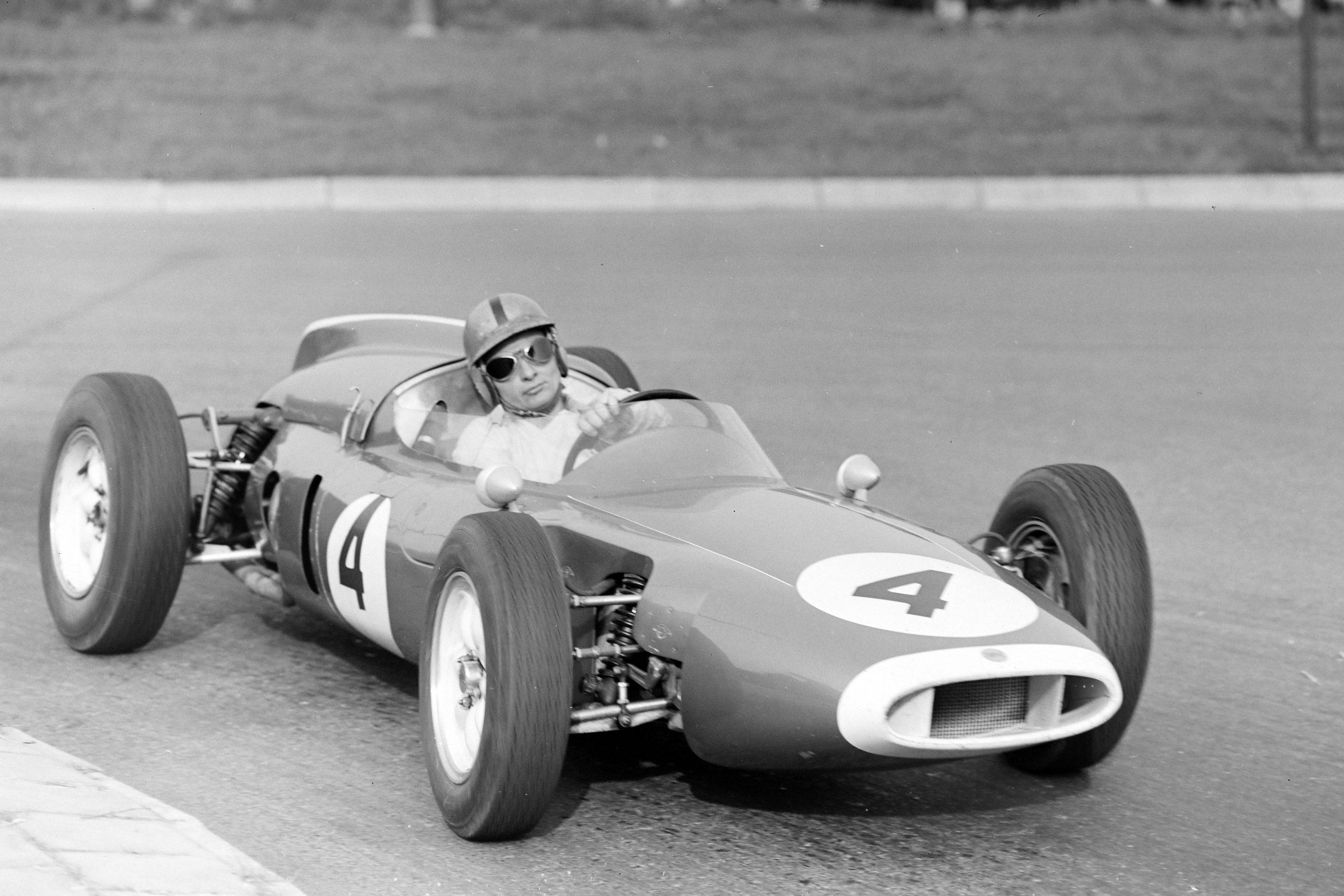 Bruce McLaren in his Cooper T53 Climax.