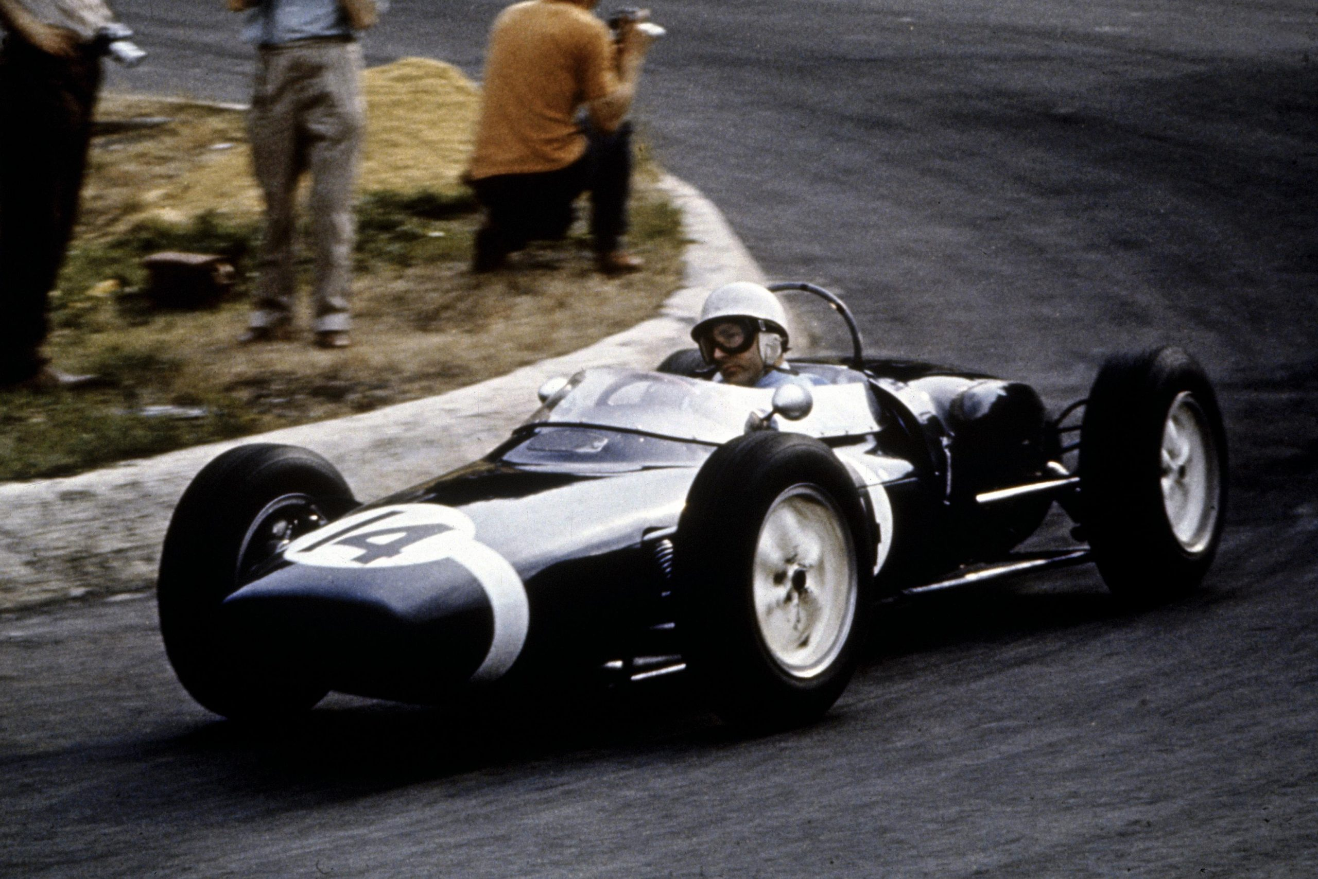 Stirling Moss in his Lotus 18/21.