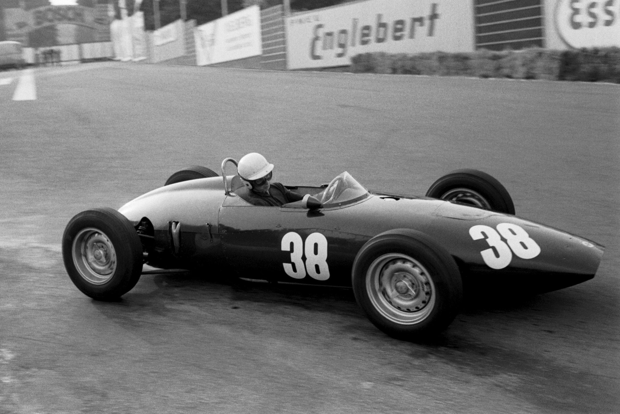 Tony Brooks driving his BRM P48/57.