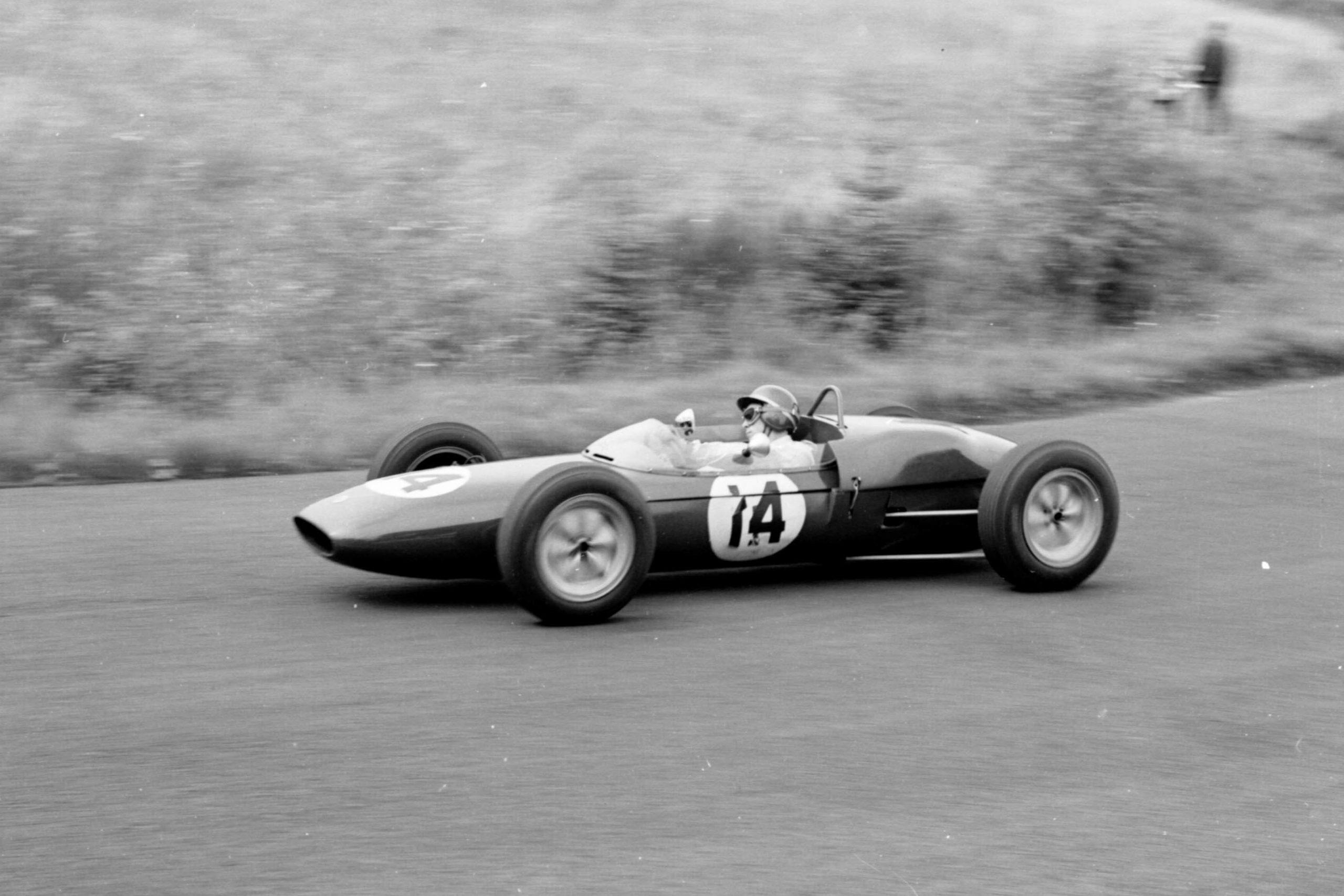 Jim Clark in his Lotus 21-Climax.