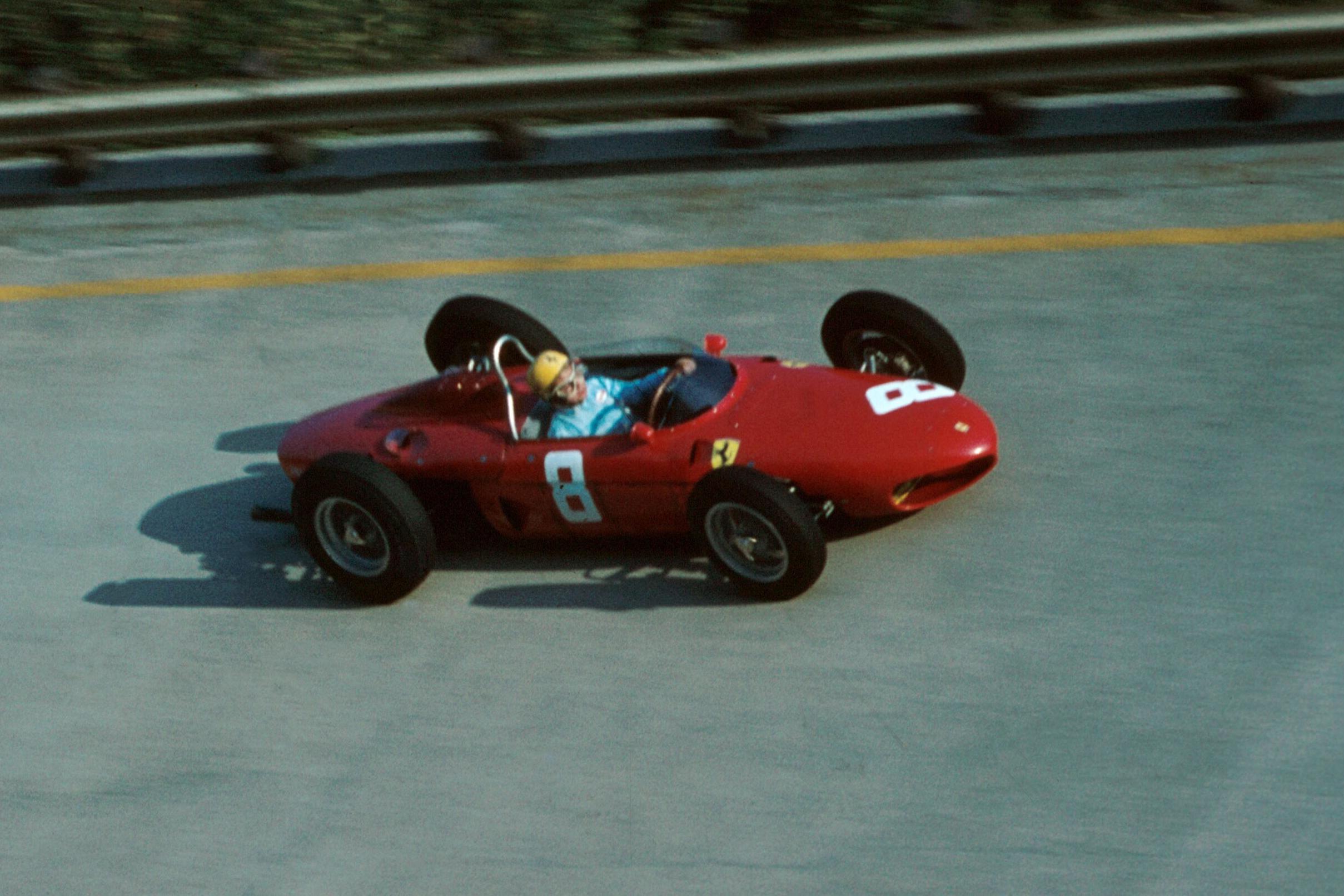 Ricardo Rodriguez pilots a Ferrari 156.