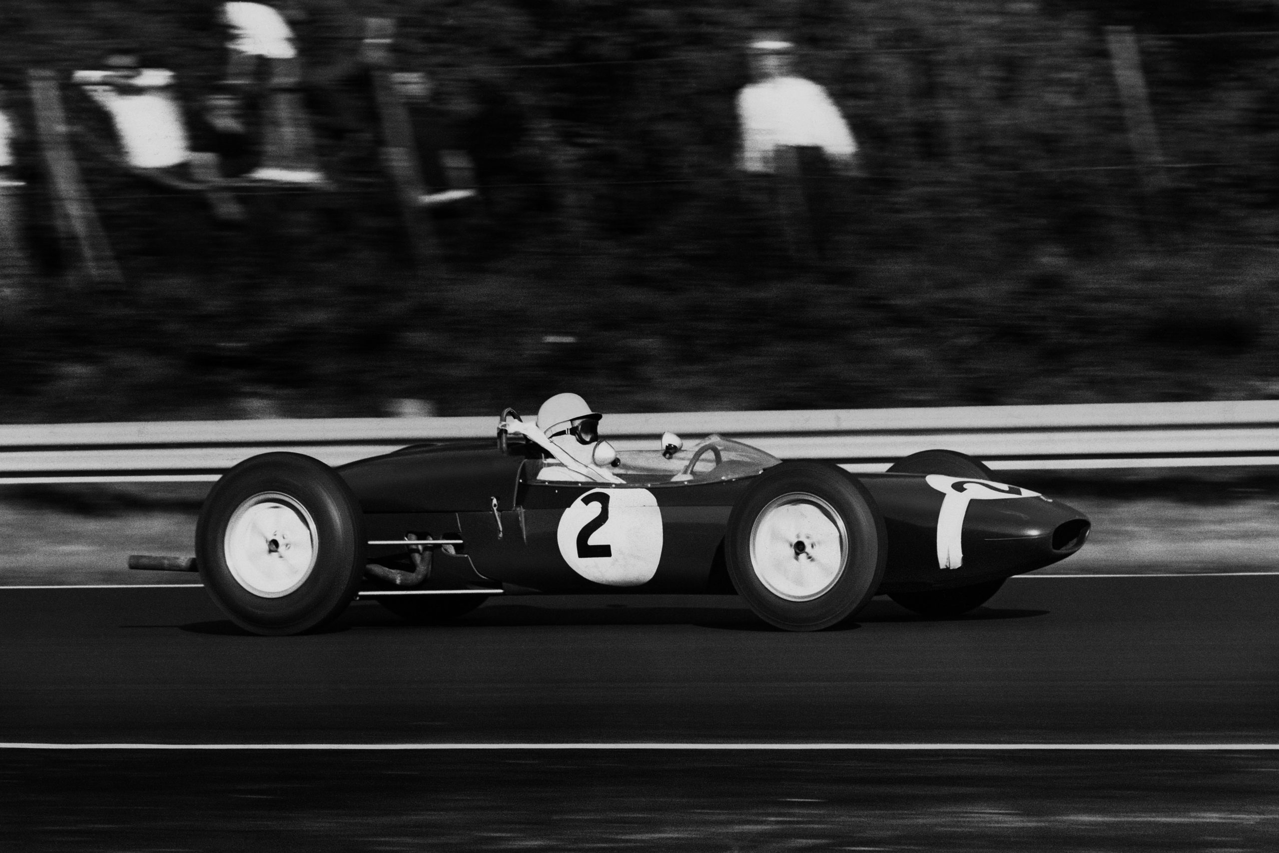 Stirling Moss in a Lotus 21-Climax.