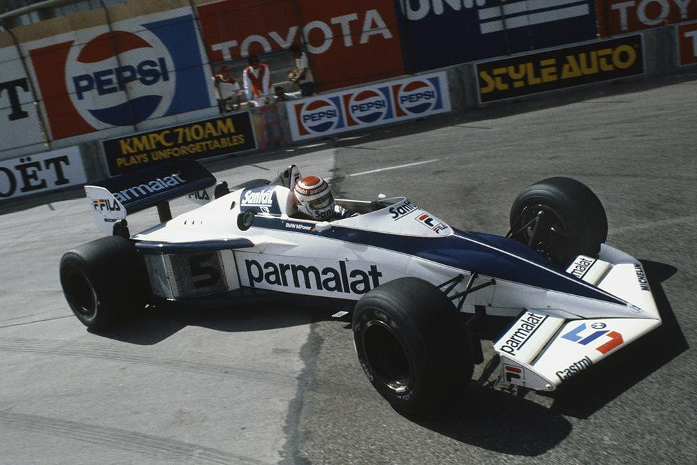 Nelson Piquet in his Brabham BT52 BMW.