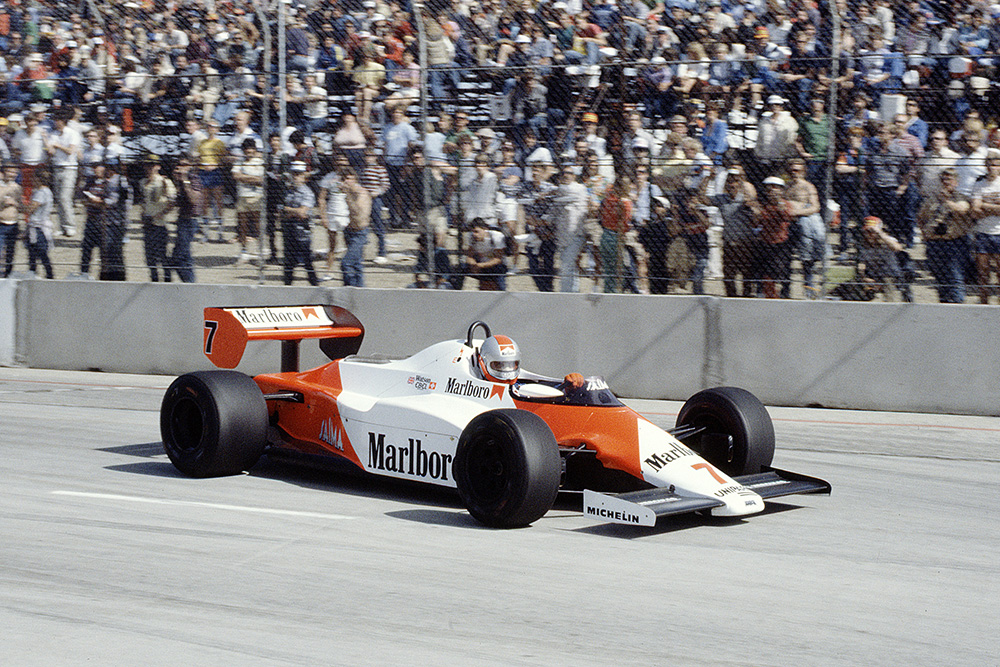 John Watson heading for a win in his McLaren MP4/1C Ford.
