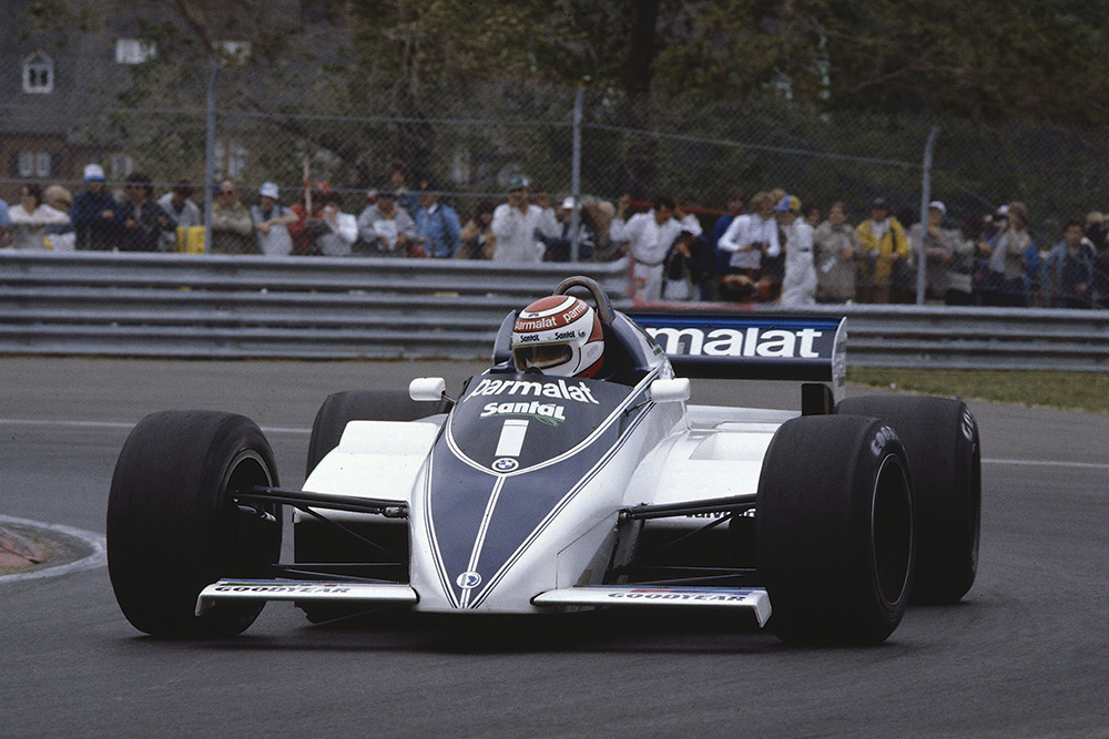 Nelson Piquet in his Brabham BT50 BMW.
