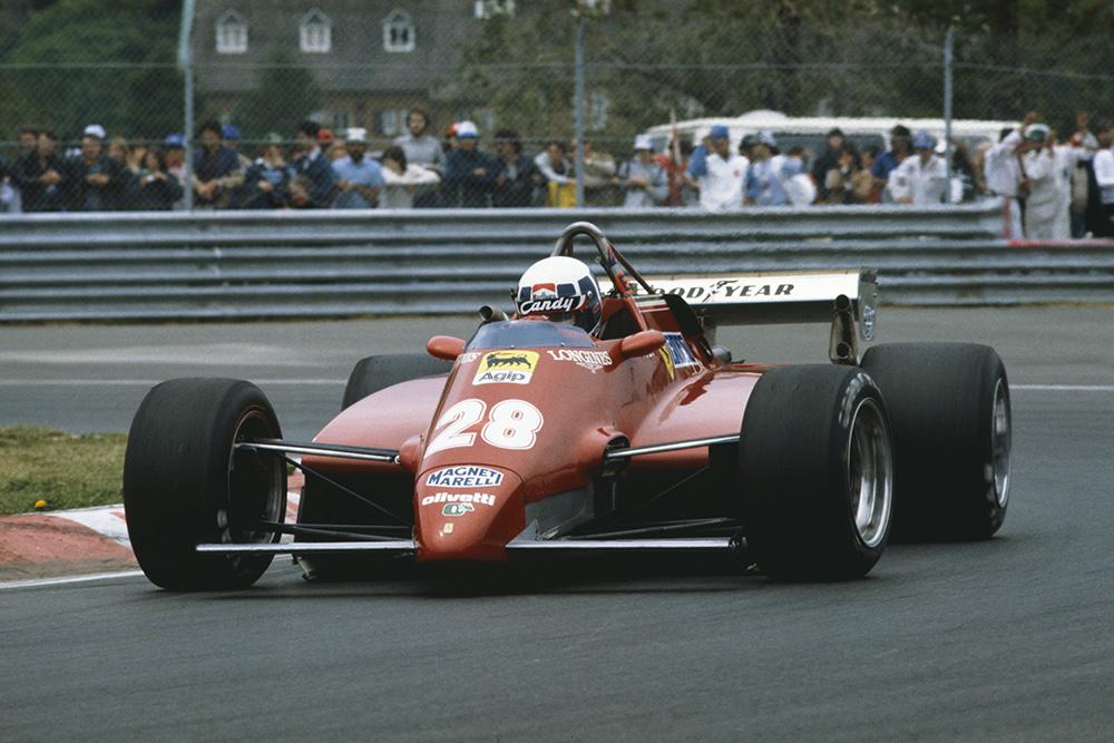 Didier Pironi in his Ferrari 126C2.