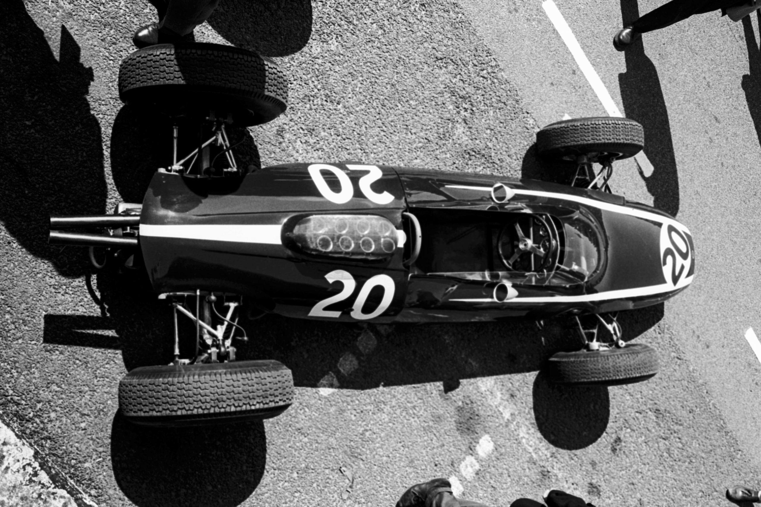 The Cooper Climax T66 of Bruce McLaren.