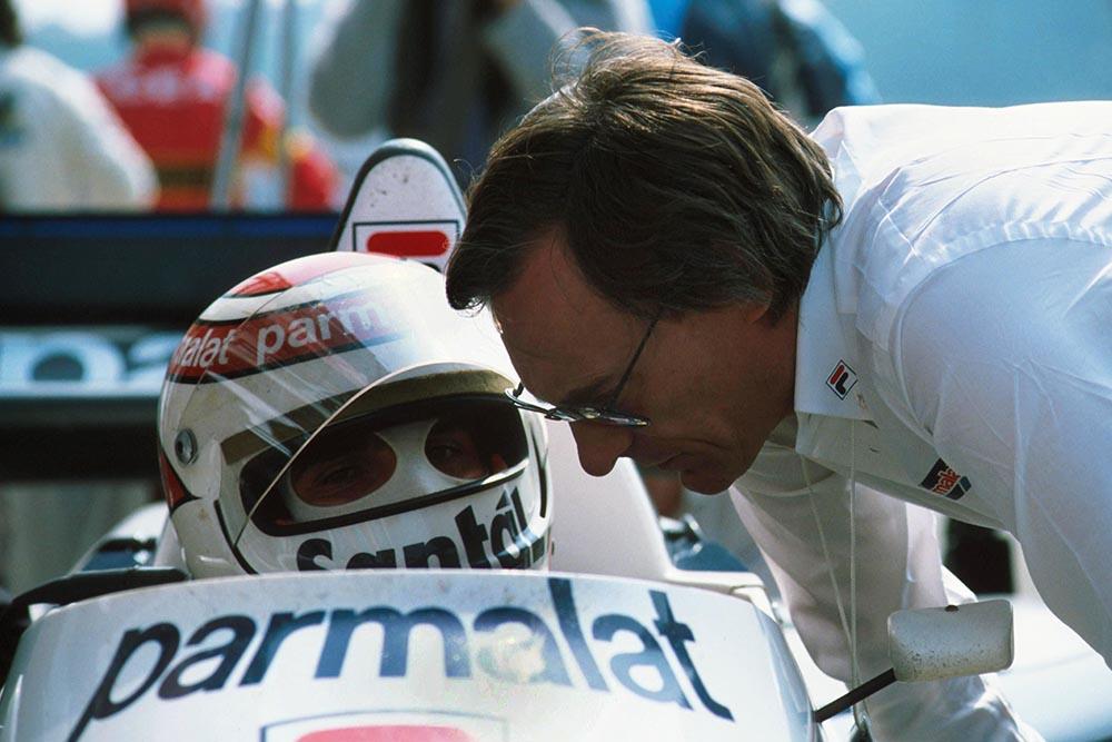 Nelson Pique and Bernie Ecclestone Brabham Team Owner.