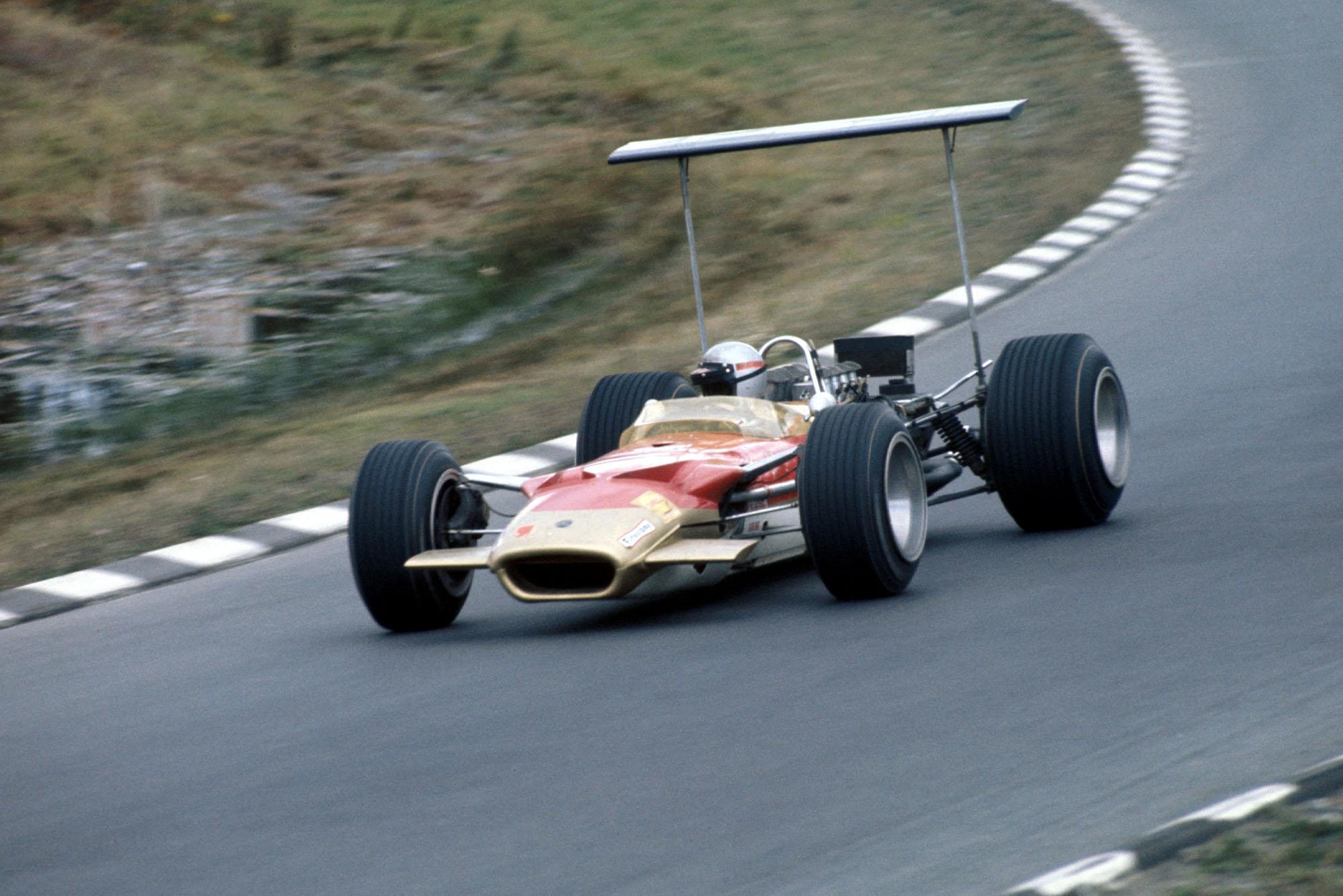 Mario Andretti in his Lotus at the 1968 United States Grand Prix