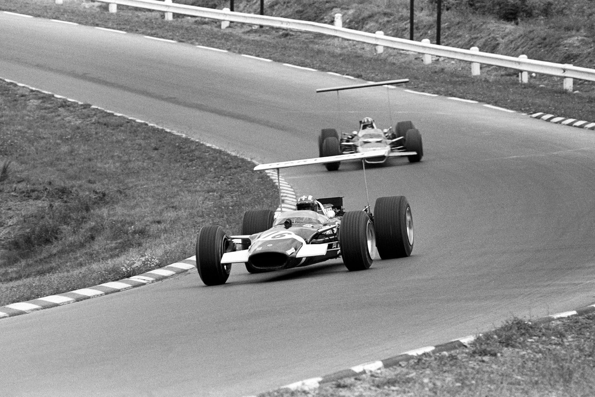 Jo Siffert in his Rob Walker Lotus at the 1968 United States Grand Prix.