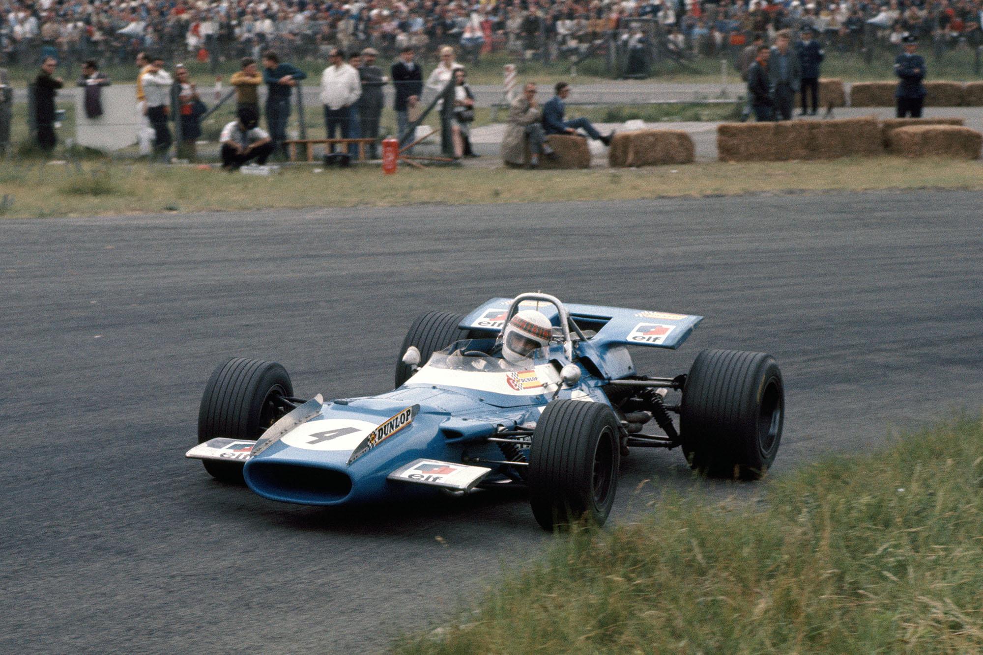 Jackie Stewart in his Matra at the 1969 Dutch Grand Prix