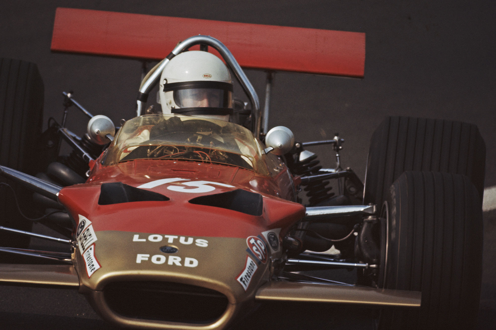 Jochen Rindt driving for Lotus at the 1969 French Grand Prix.