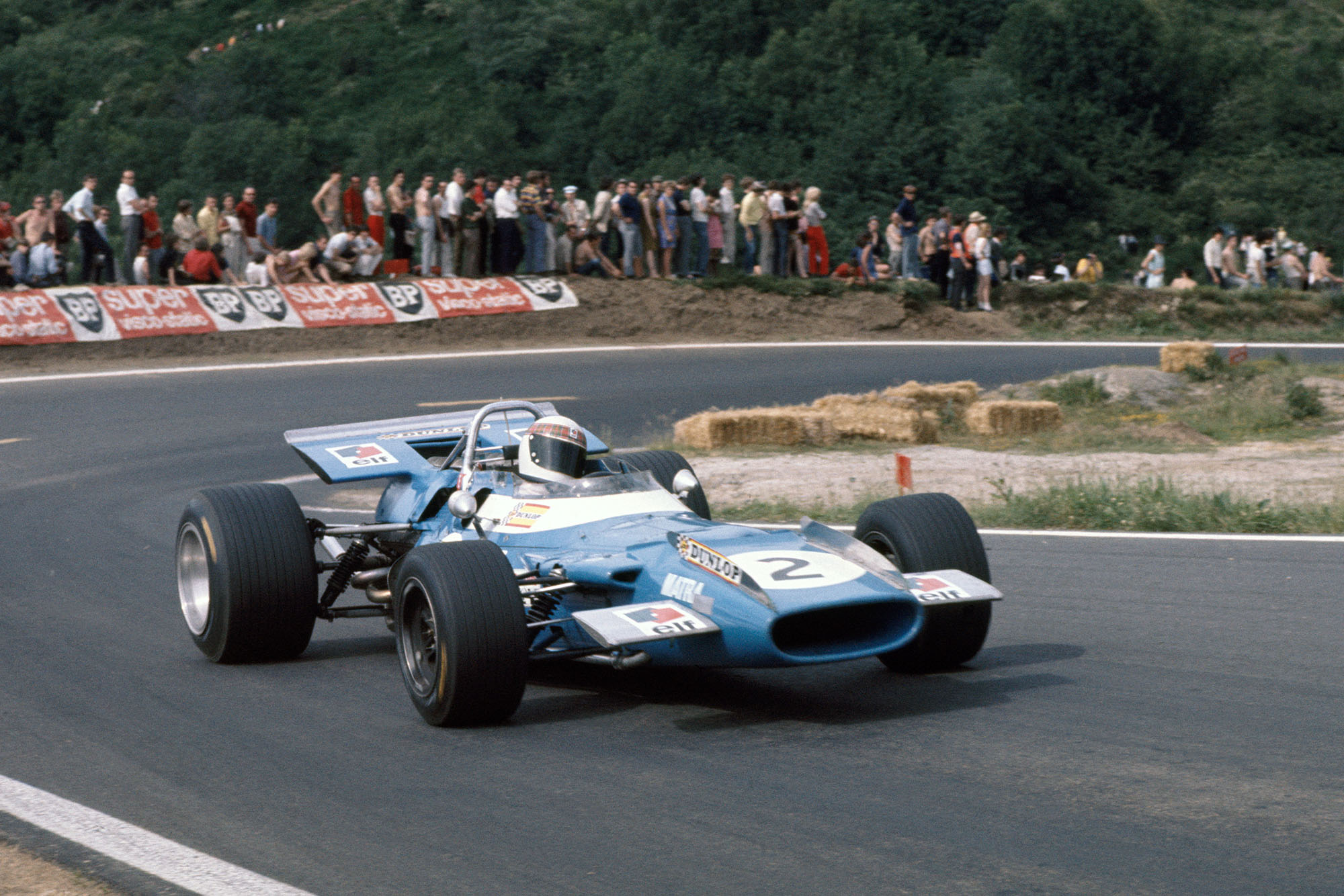Jackie Stewart in his Matra at the 1969 French Grand Prix.