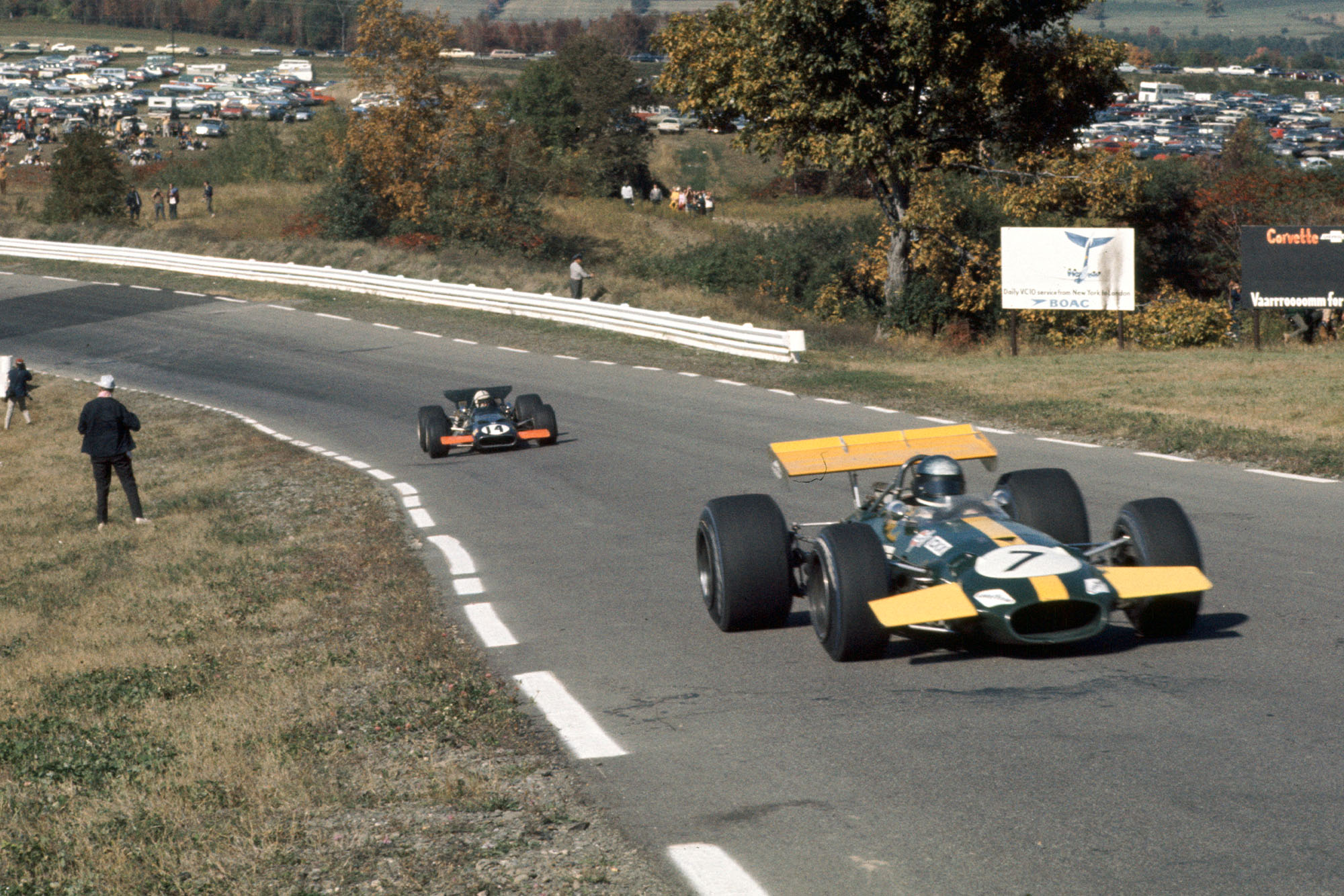 Jacky Ickx drivng for Brabham at the 1969 United States Grand Prix.