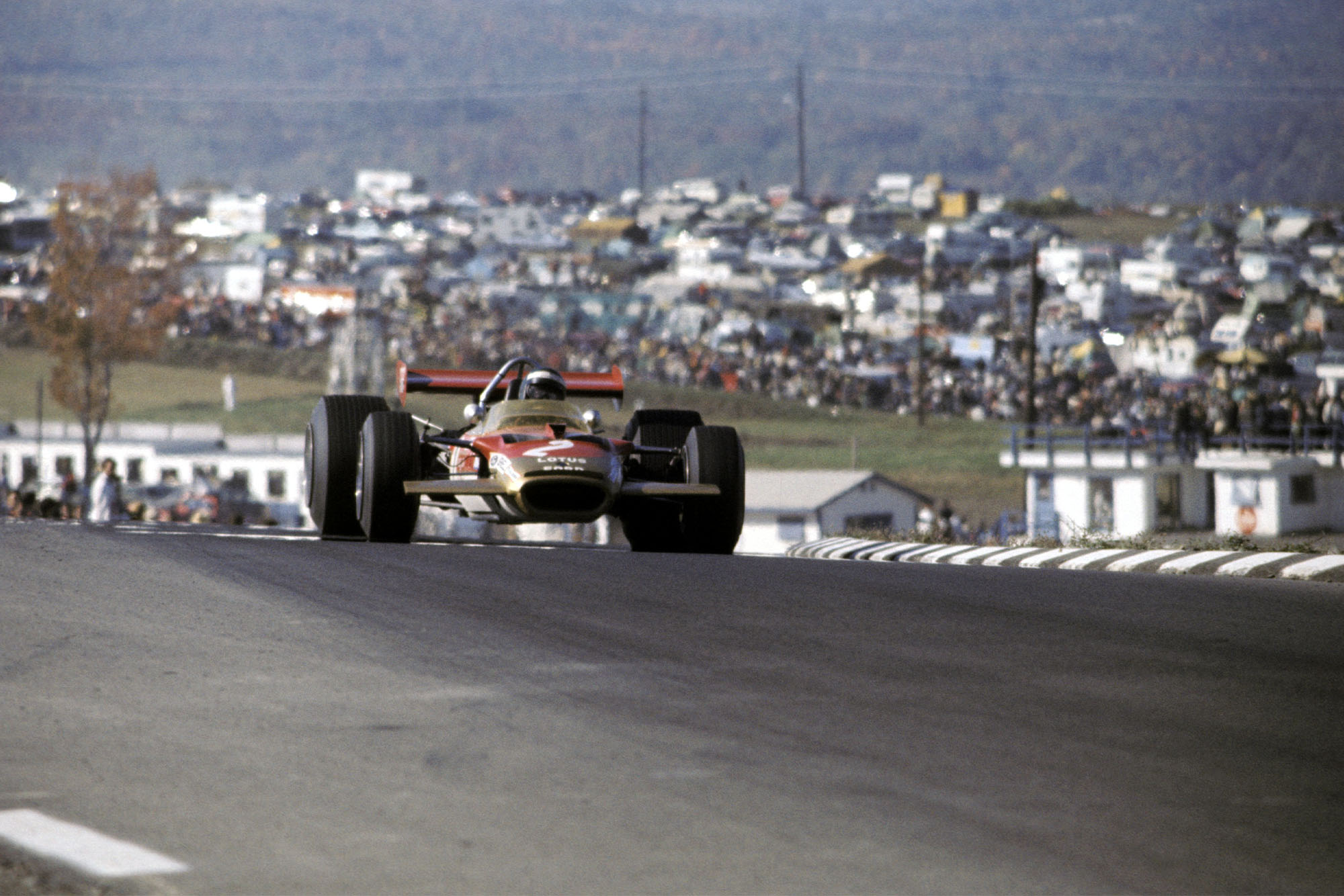Jochen Rindt on his way to victory at the 1969 United States Grand Prix