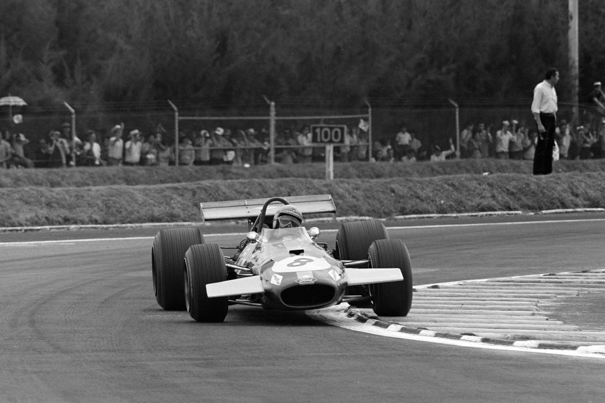 Jack Brabham driving a Brabham at the 1969 Mexican Grand Prix