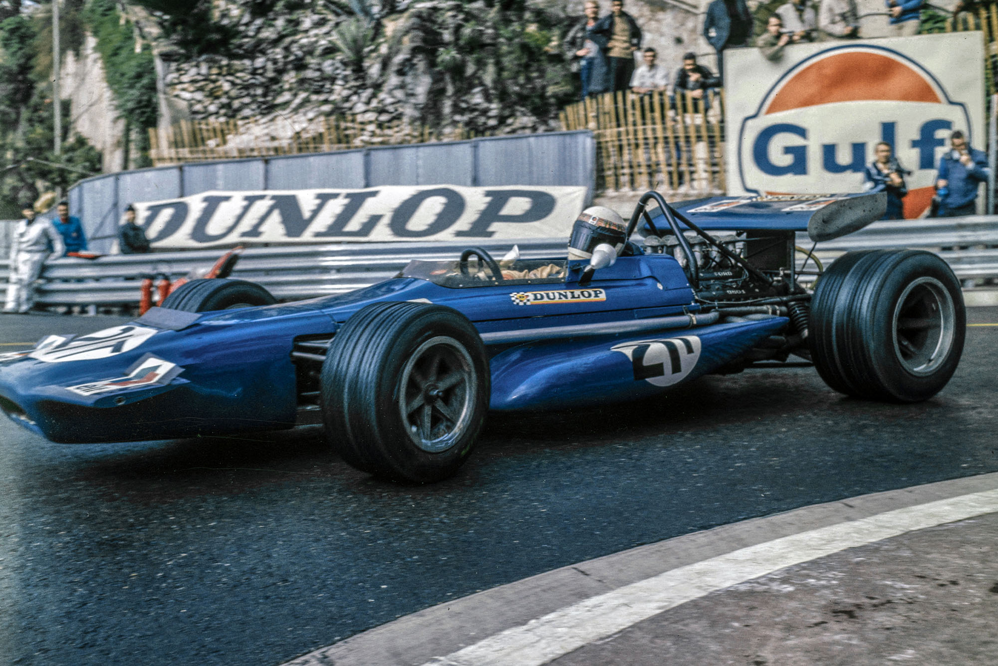 Jackie Stewart in his Tyrrell at the 1970 Monaco Grand Prix