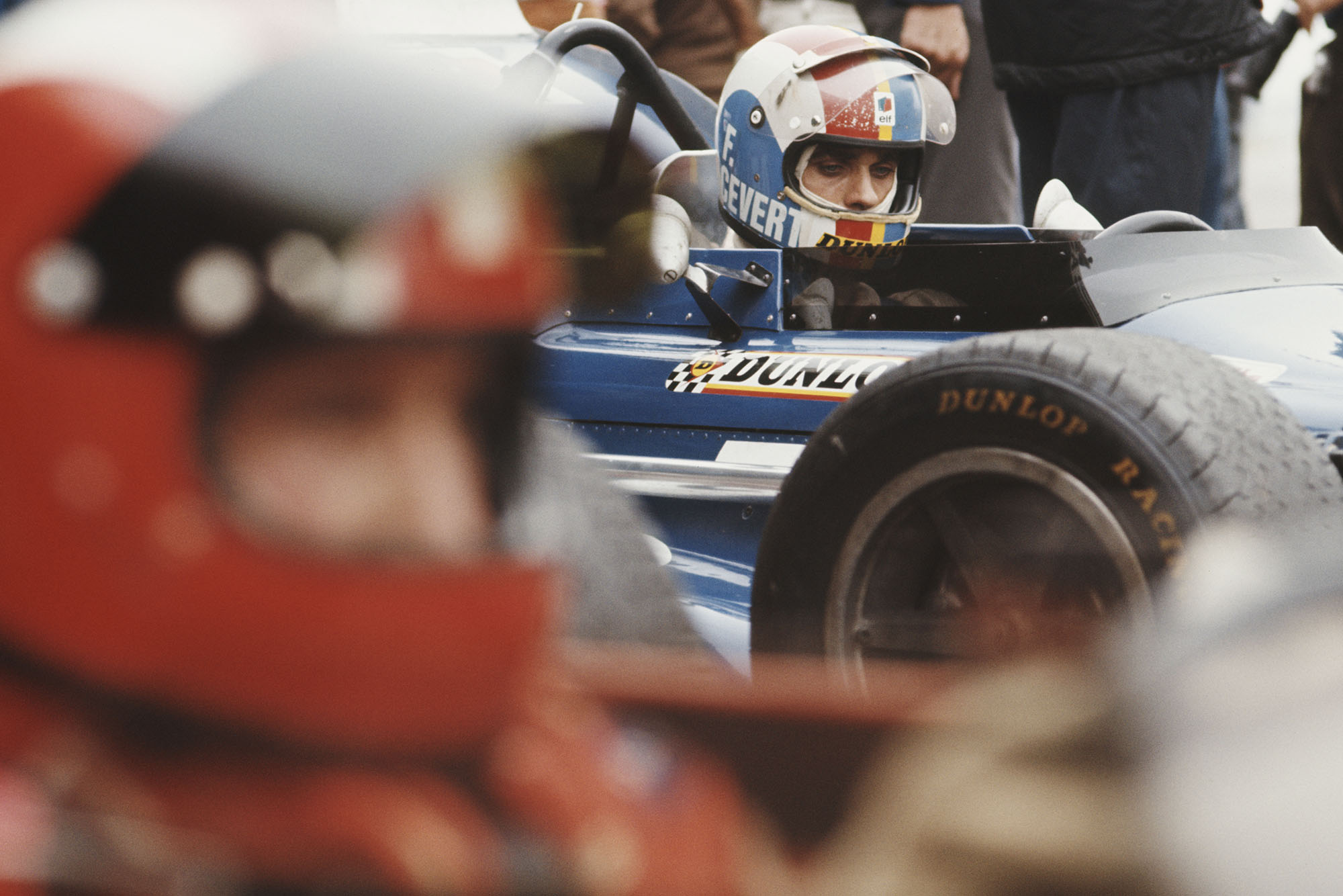 Tyrrell's Francois Cevert eyes the opposition on the starting grid at the 1970 Dutch Grand Prix