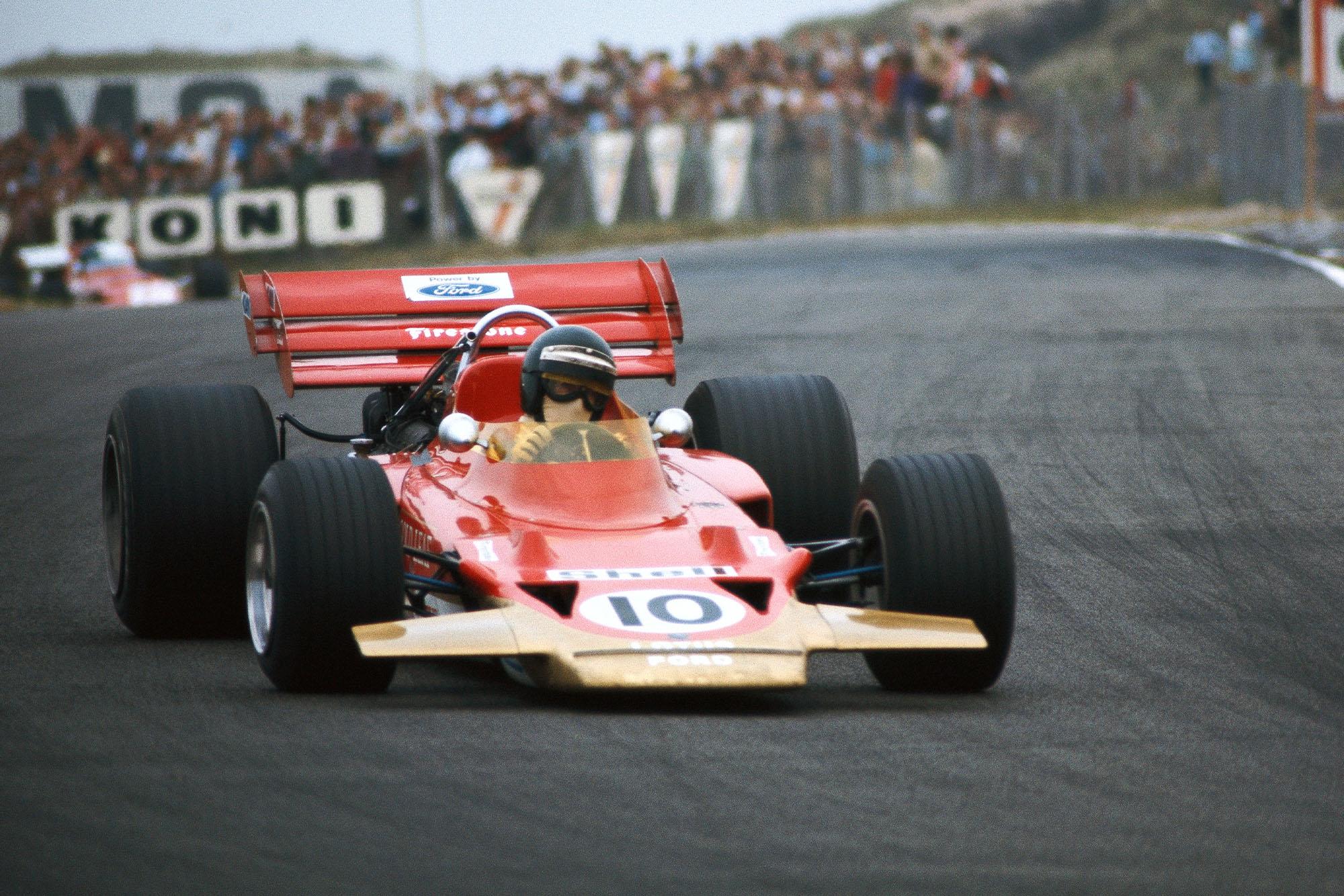 Jochen RIndt in his Lotus at the 1970 Dutch Grand Prix