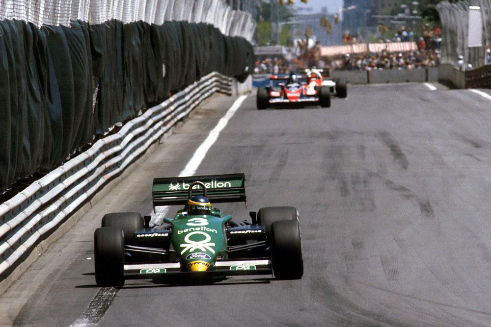 Michele Alboreto in his Tyrrell 011 Ford.
