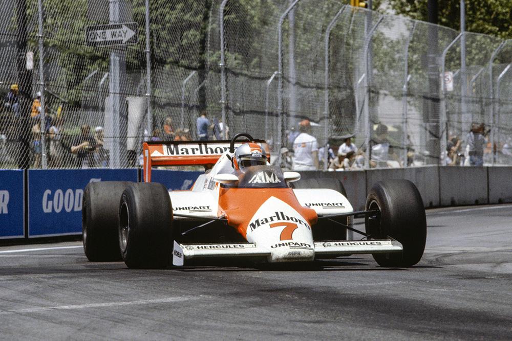John Watson in a McLaren MP4-1C Ford.