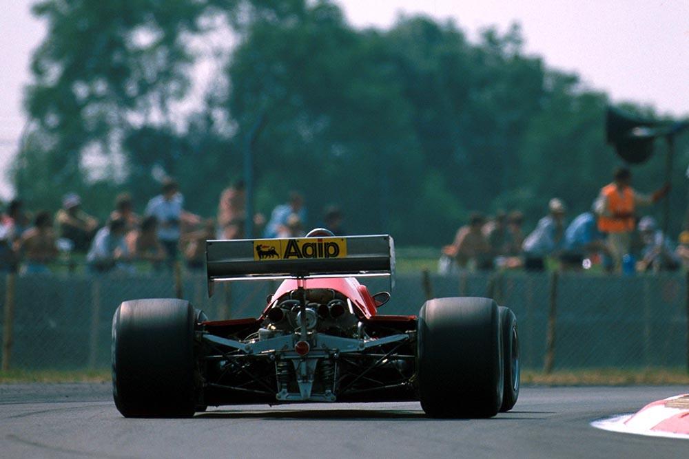 Patrick Tambay drives a Ferrari 126C3 to 3rd place.