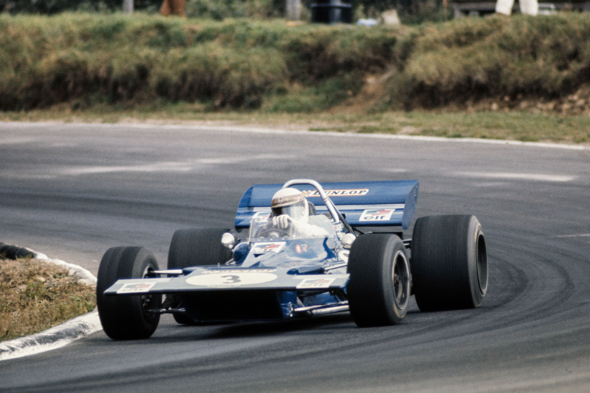 Jackie Stewart driving for Tyrrell at the 1970 Canadian Grand Prix.
