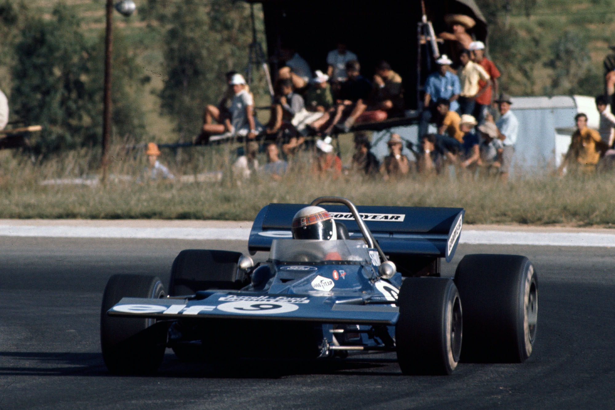 Jackie Stewart driving for Tyrrell at the 1971 South African Grand Prix