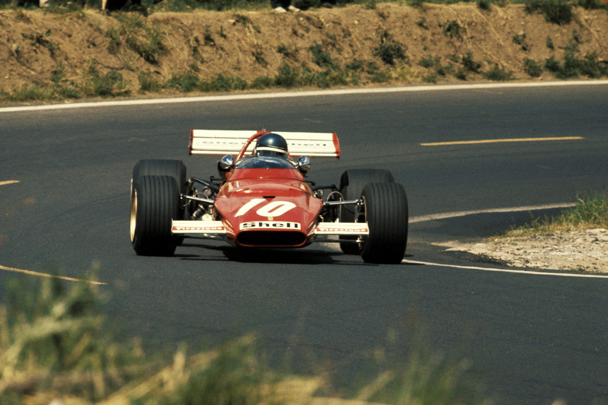 Jacky Ickx driving for Ferrari at the 1970 French Grand Prix