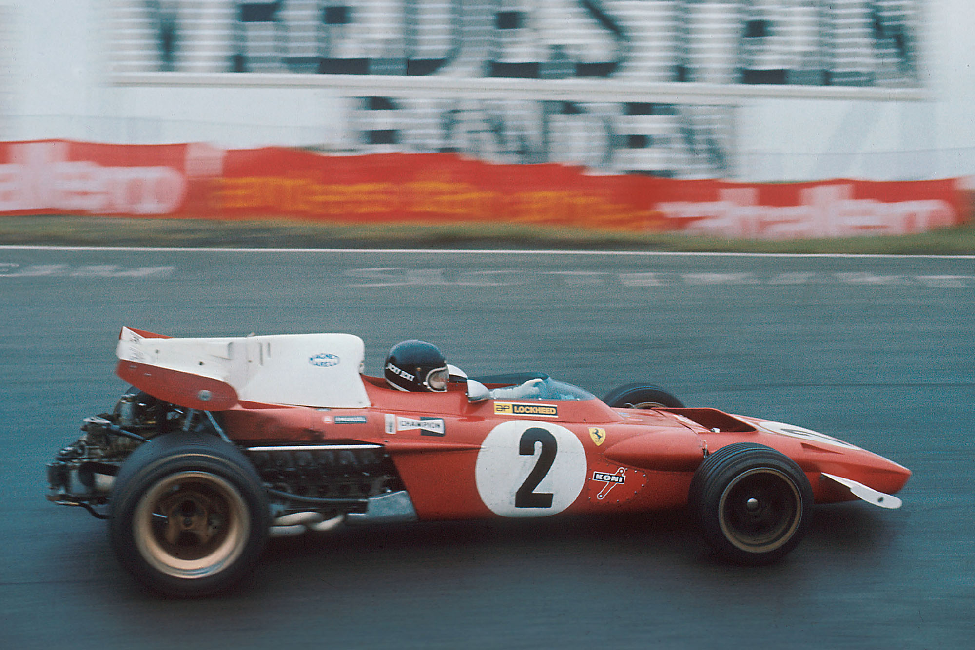 Jacky Ickx driving for Ferrari at the 1970 Dutch Grand Prix