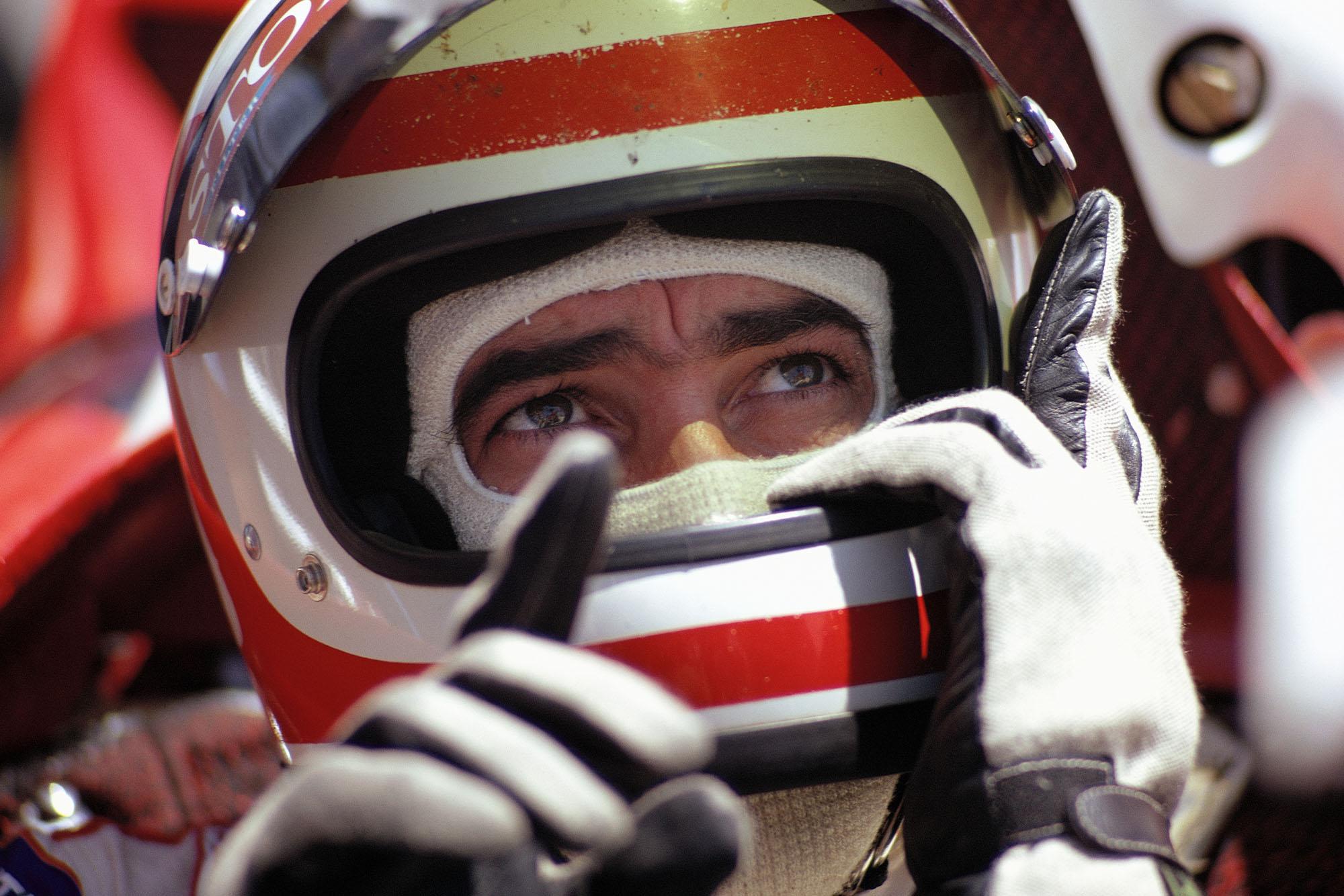 Clay Regazzoni before the 1971 French Grand Prix