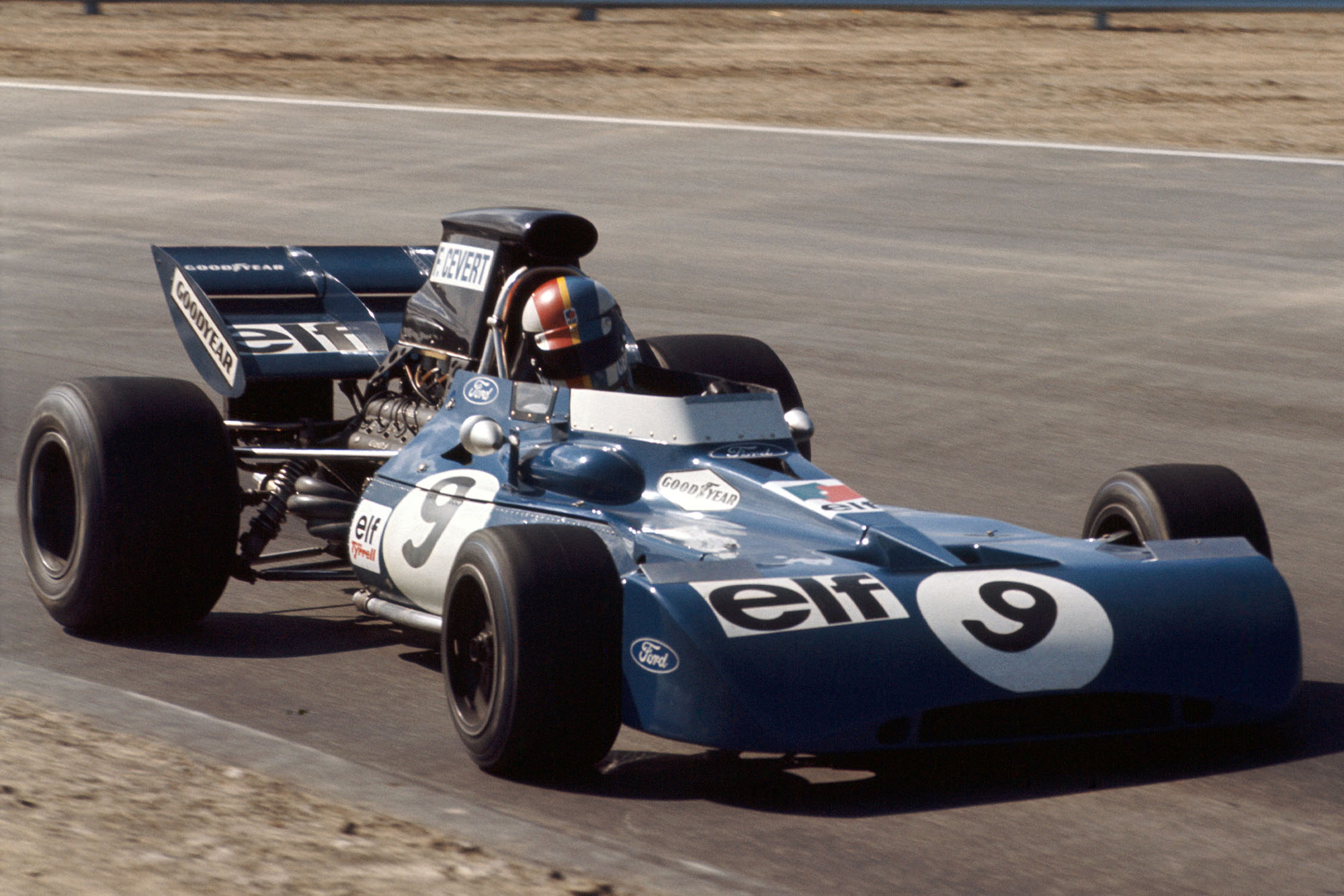 Francois Cevert driving for Tyrrell at the 1971 United States Grand Prix.