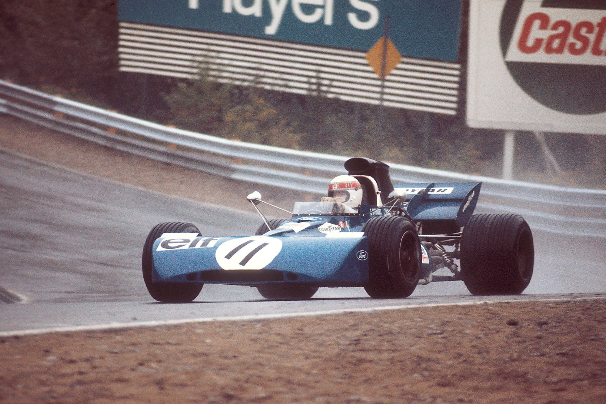Jackie Stewart driving for Tyrrell at the 1971 Canadian Grand Prix.