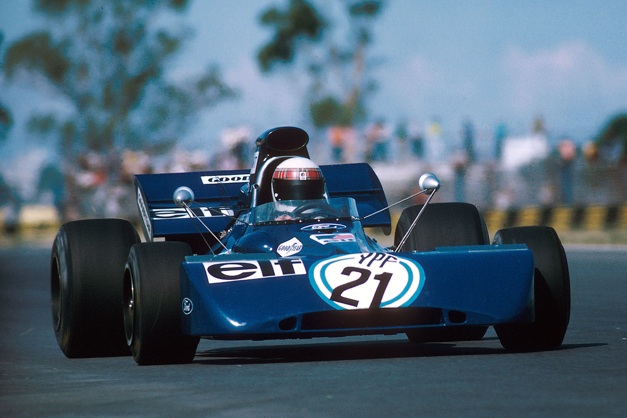 Jackie Stewart driving for Tyrrell at the 1972 Argentine Grand Prix.