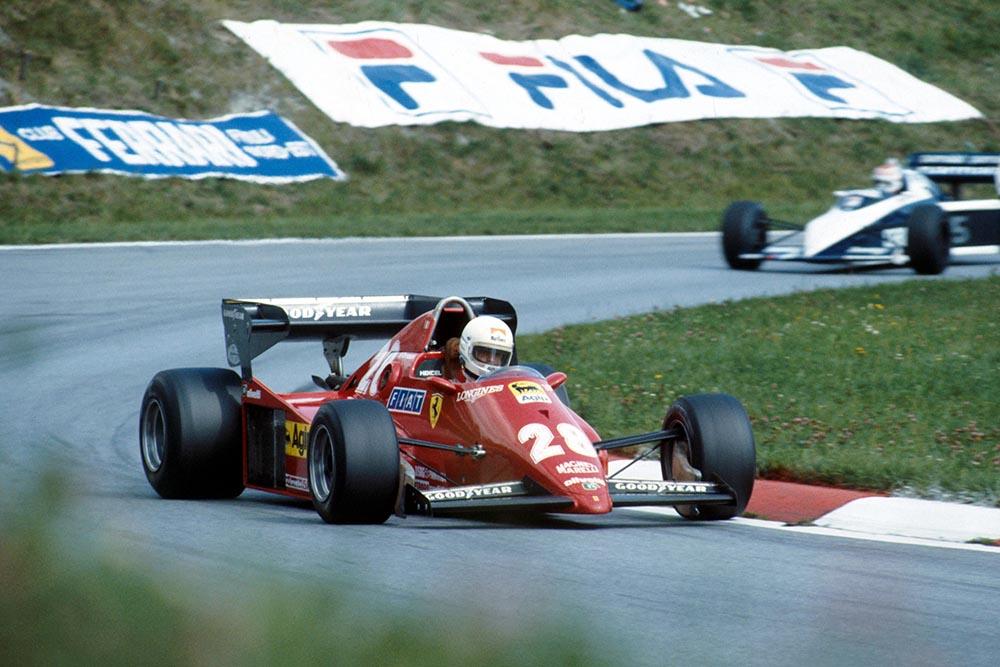Rene Arnoux in his Ferrari 126C3.