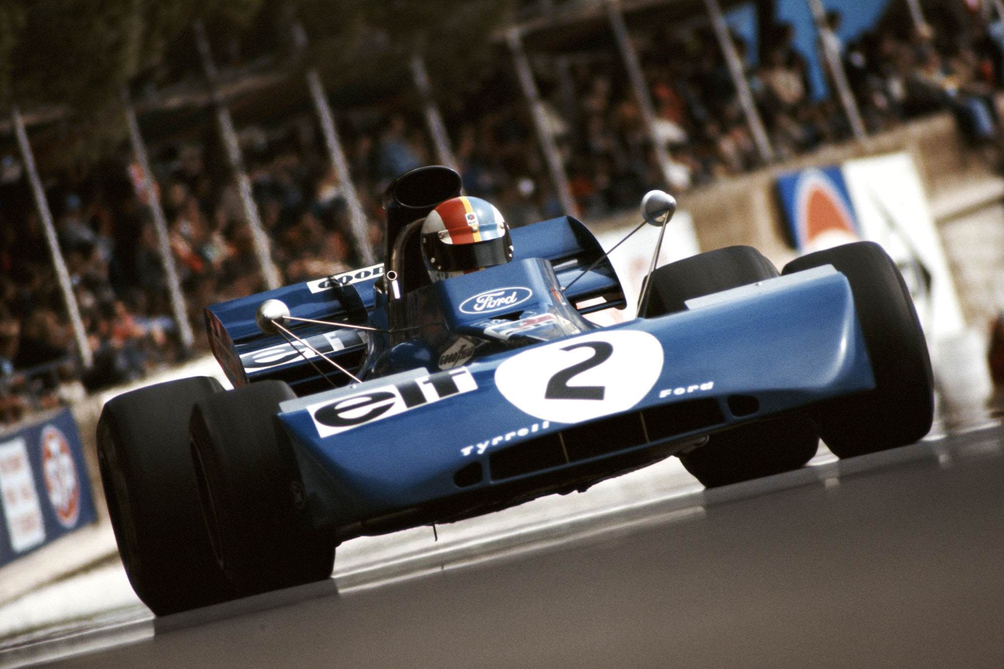Francois Cevert in his Tyrrell at the 1972 Monaco Grand Prix.