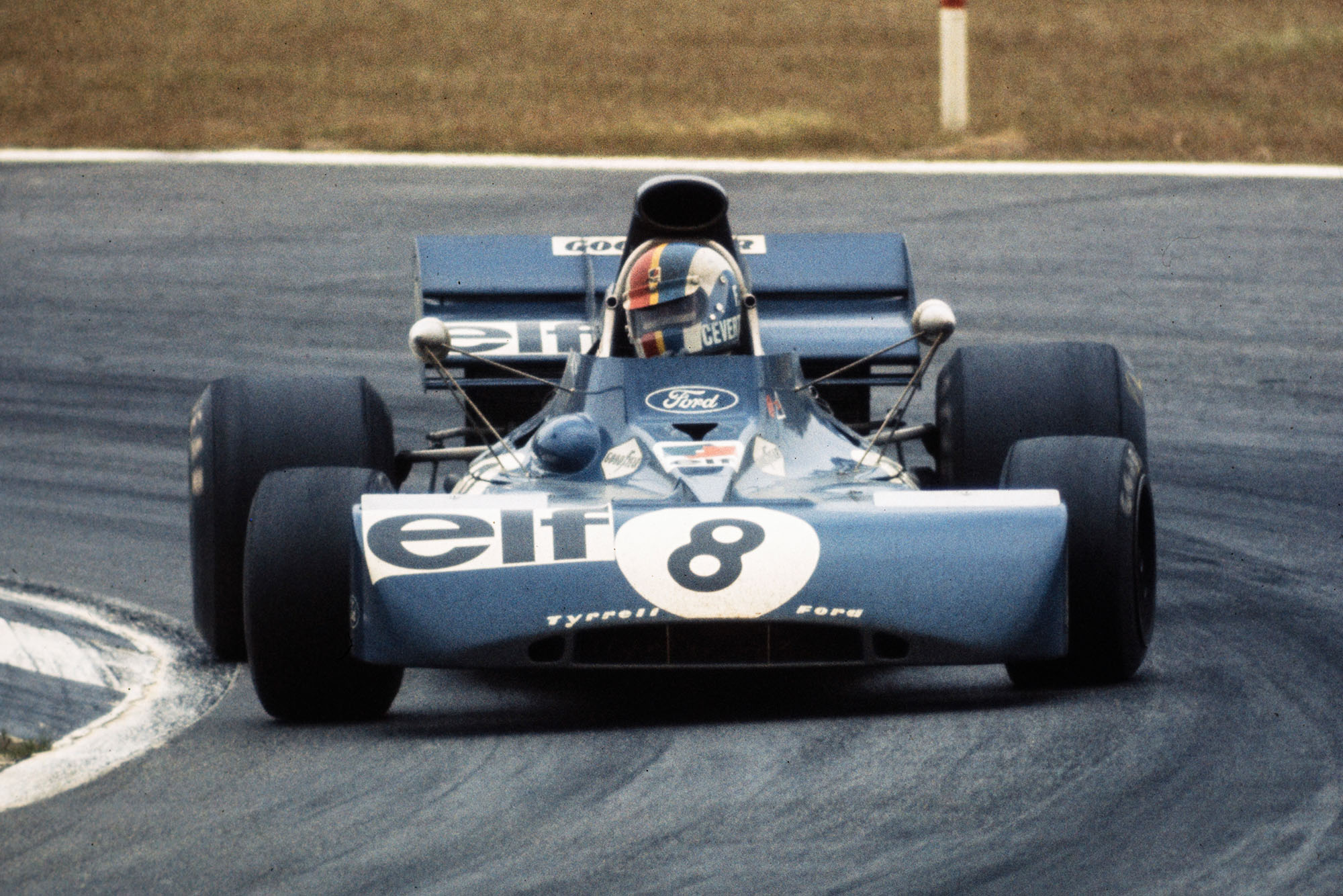 Francois Cevert in his Tyrrell at the 1972 Belgian Grand Prix