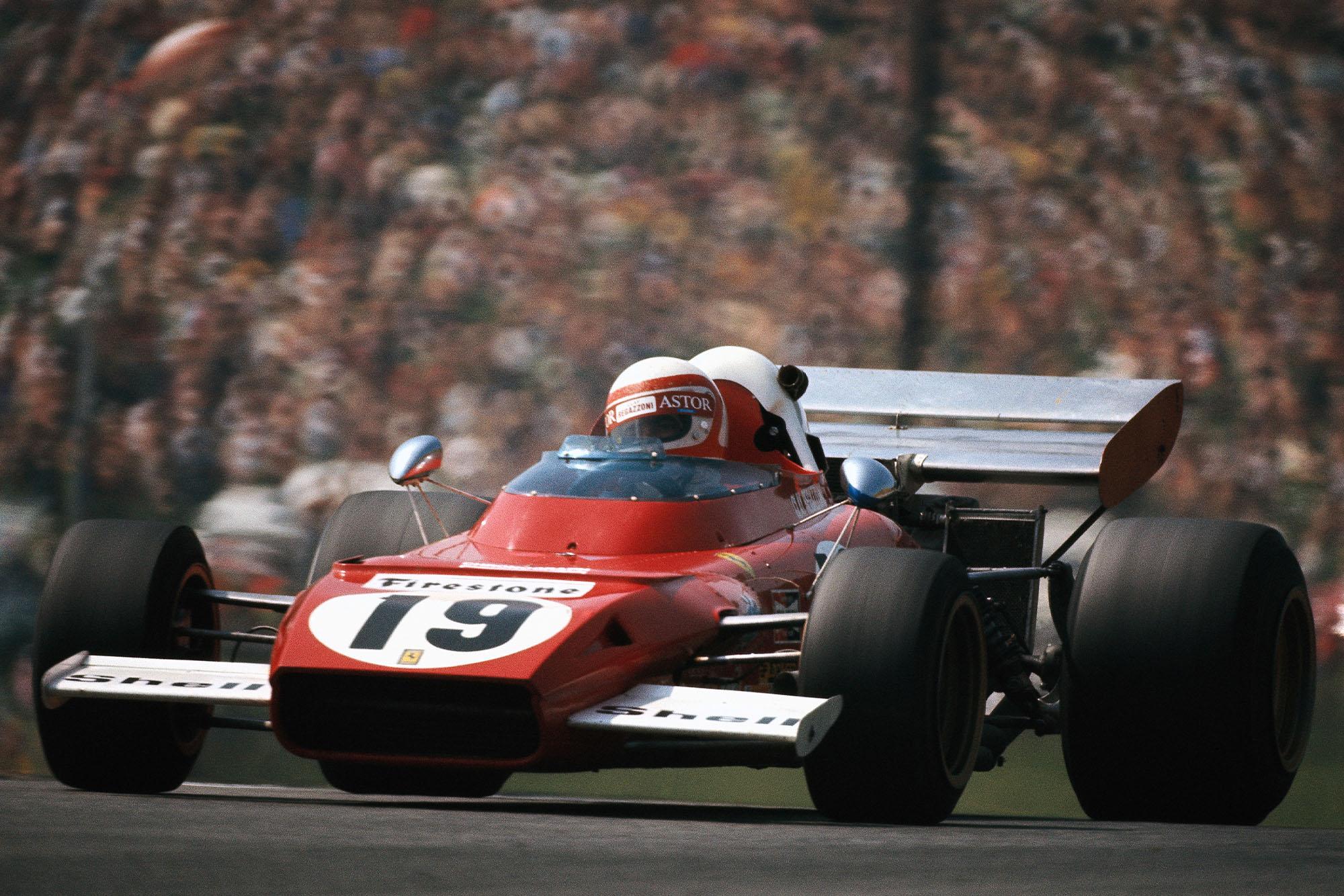 Clay Regazzoni driving for Ferrari at the 1972 Austrian Grand Prix.