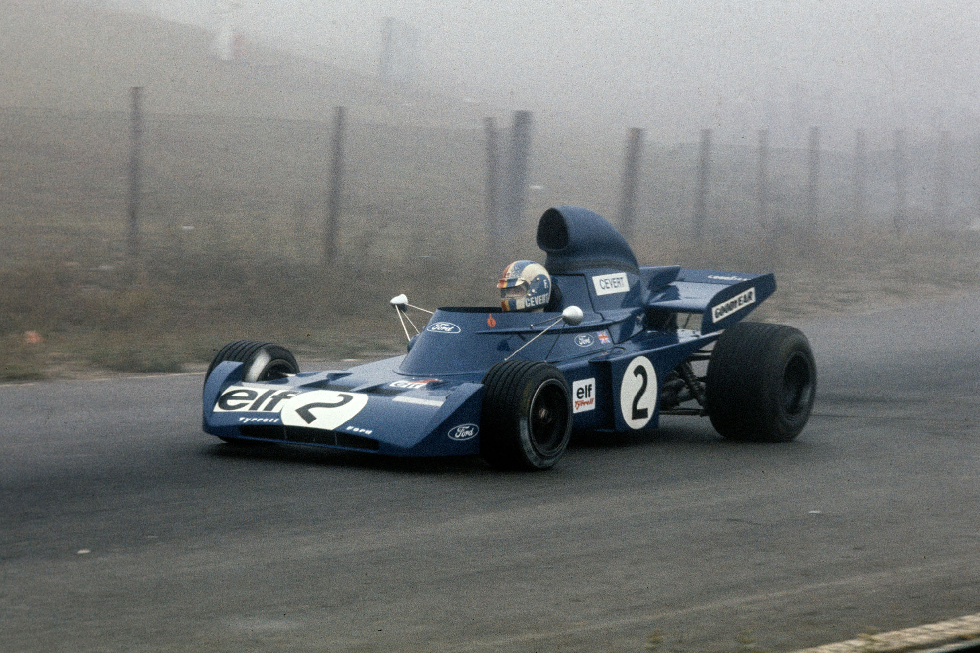 Francois Cevert driving for Tyrrell at the 1972 Canadian Grand Prix