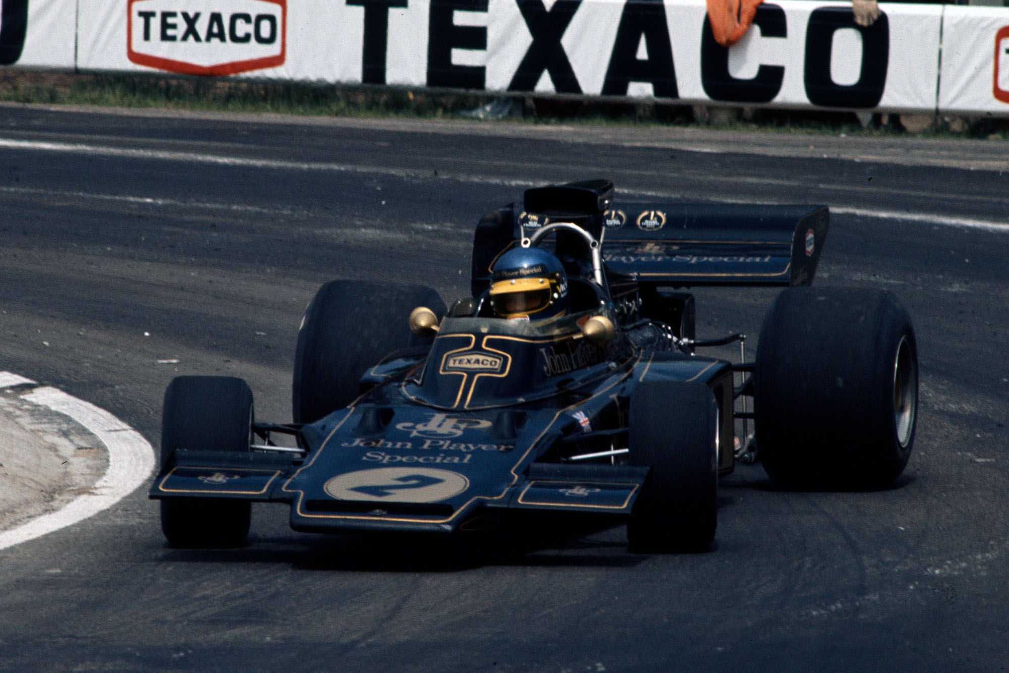 Ronnie Peterson driving for Lotus at the 1973 Belgian Grand Prix.