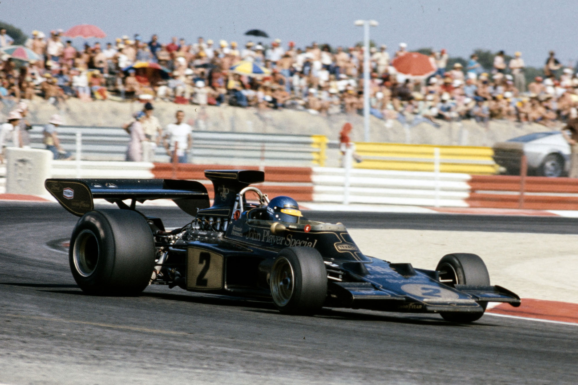 Ronnie Peterson driving at the 1973 French Grand Prix.