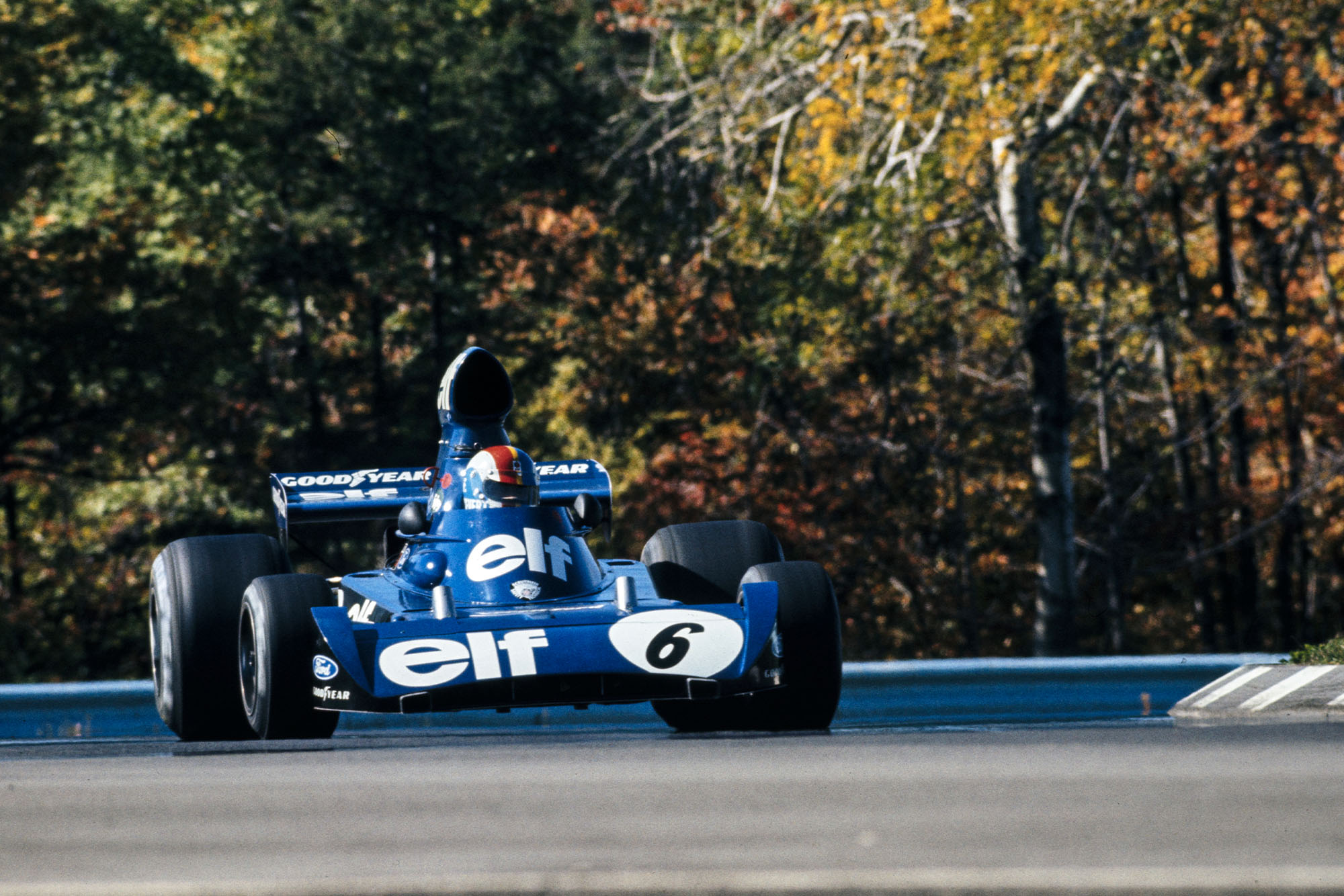 Francois Cevert driving for Tyrrell at the 1973 United States Grand Prix meeting at Watkins Glen.
