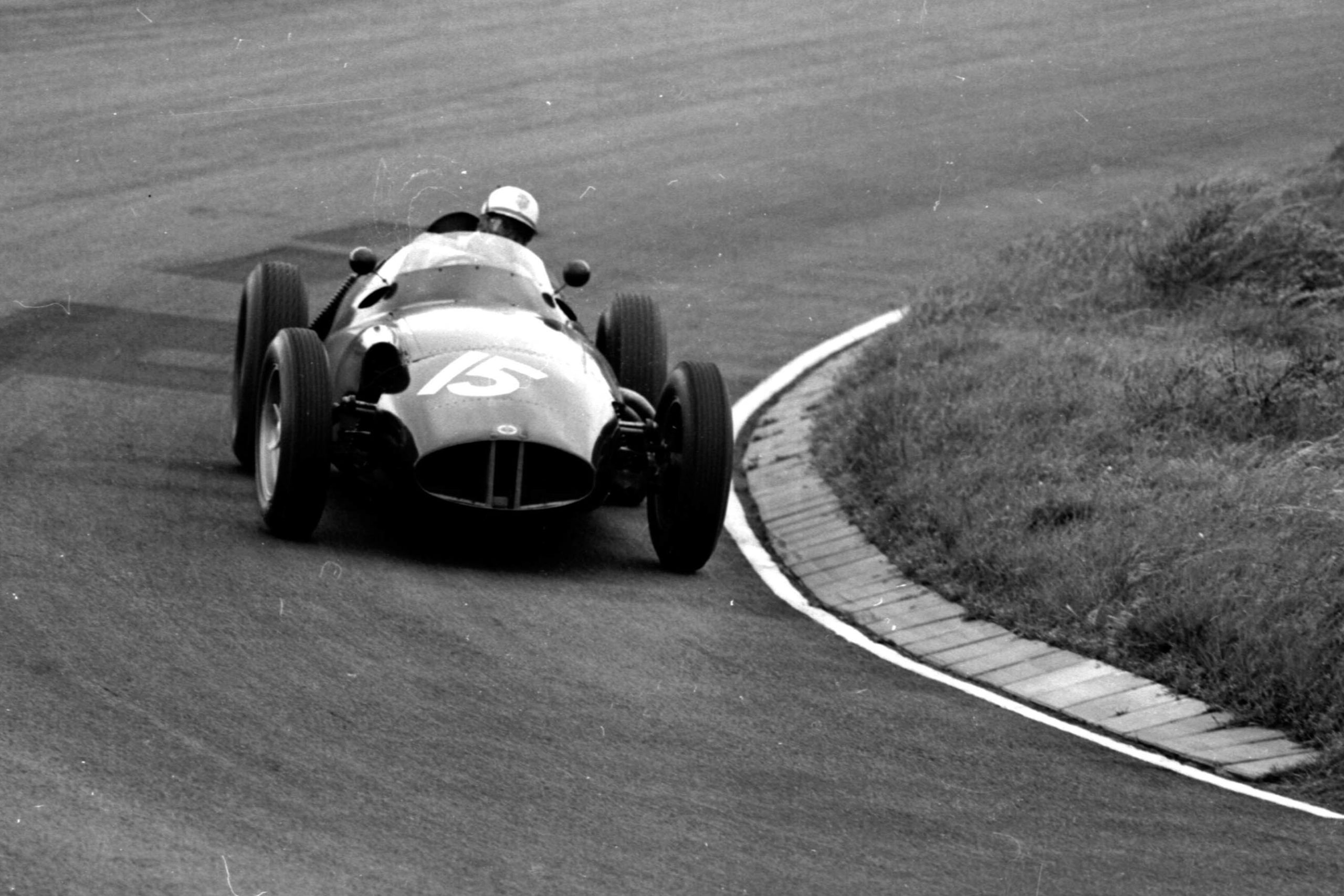 Harry Schell in BRM P25, in 2nd position
